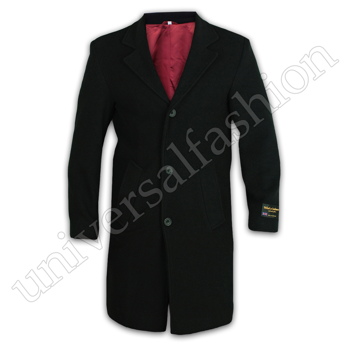 Mens-Wool-Cashmere-Coat-Jacket-Outerwear-Trench-Overcoat-Warm-Winter-Lined-New thumbnail 2