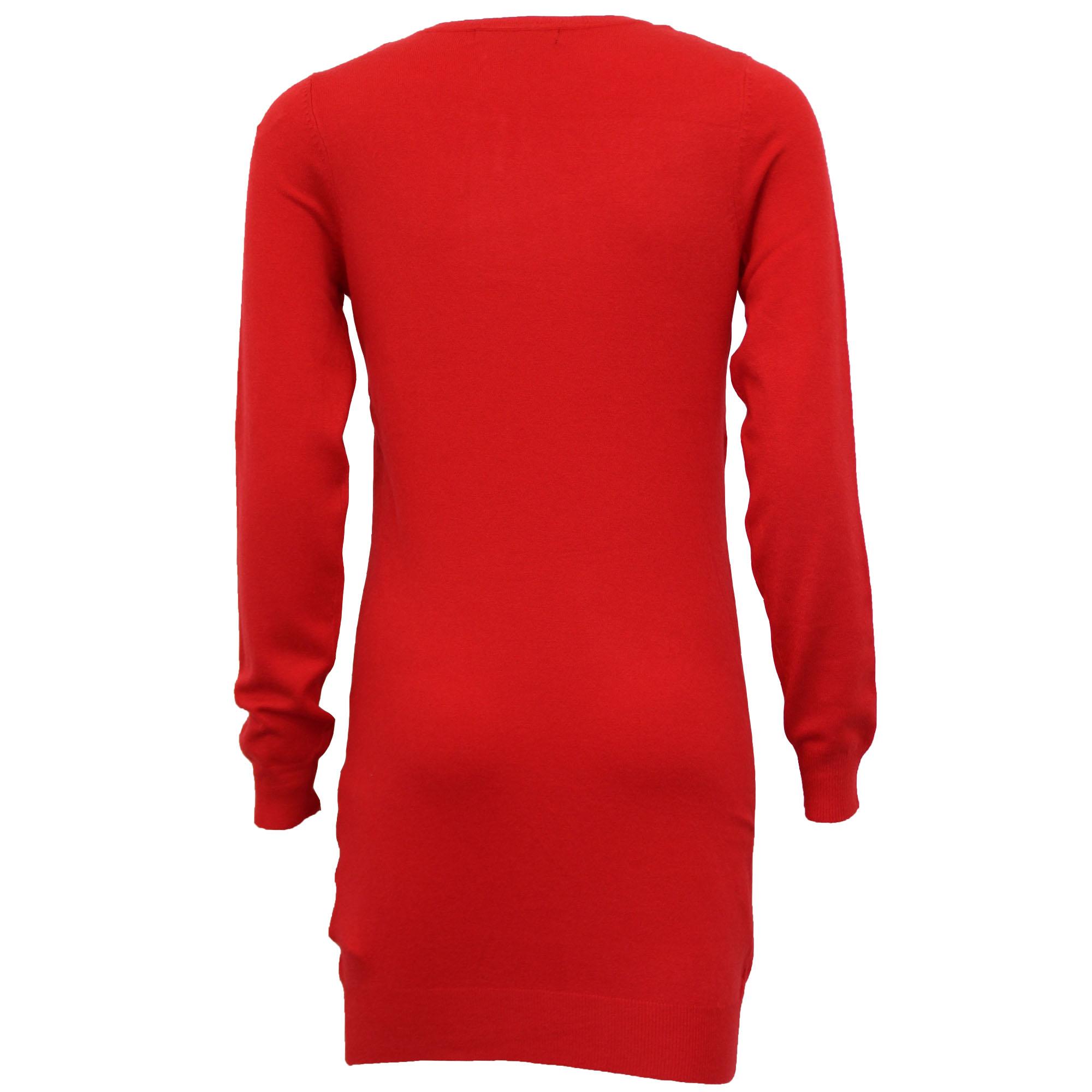 Damen-Xmas-Lang-Pullover-Damen-Kleid-Weihnachten-Glitzernde-Pailletten-Neuheit-Party-NEU Indexbild 11