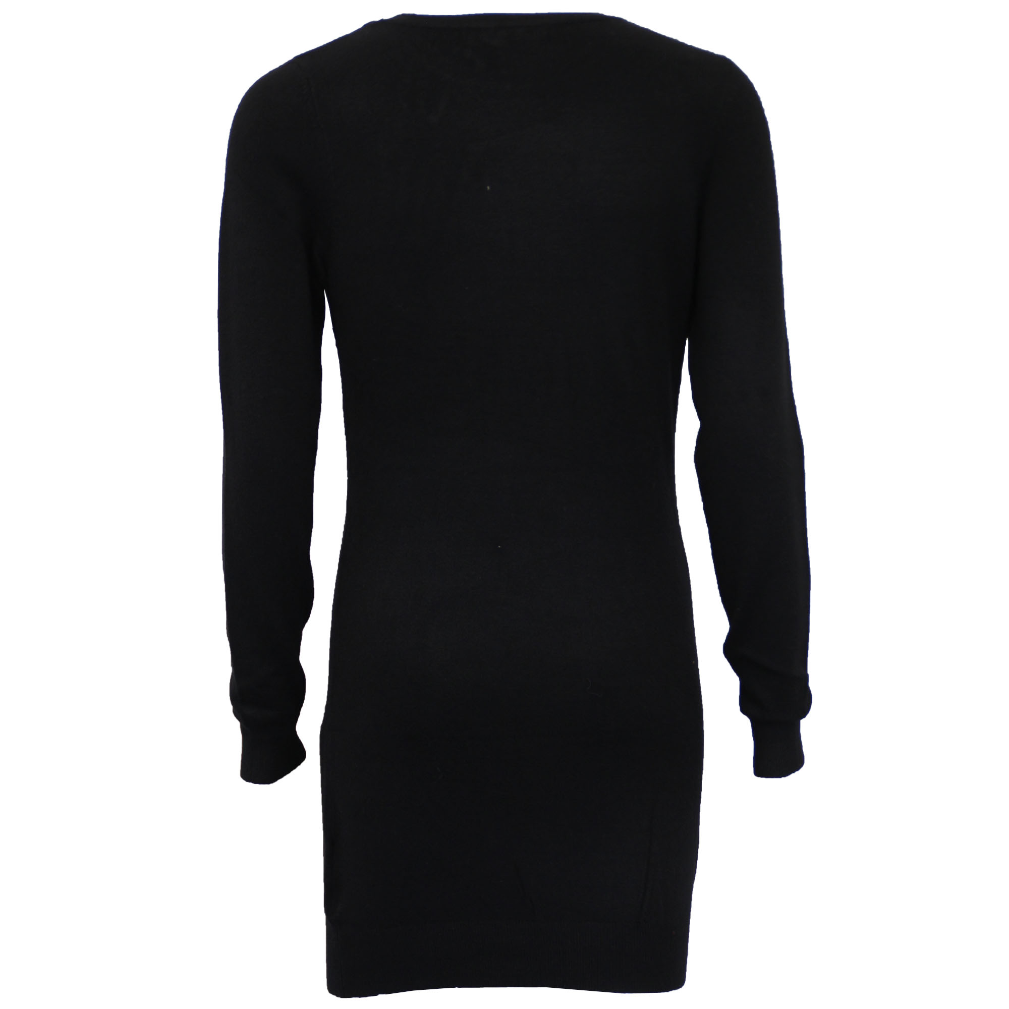 Damen-Xmas-Lang-Pullover-Damen-Kleid-Weihnachten-Glitzernde-Pailletten-Neuheit-Party-NEU Indexbild 3