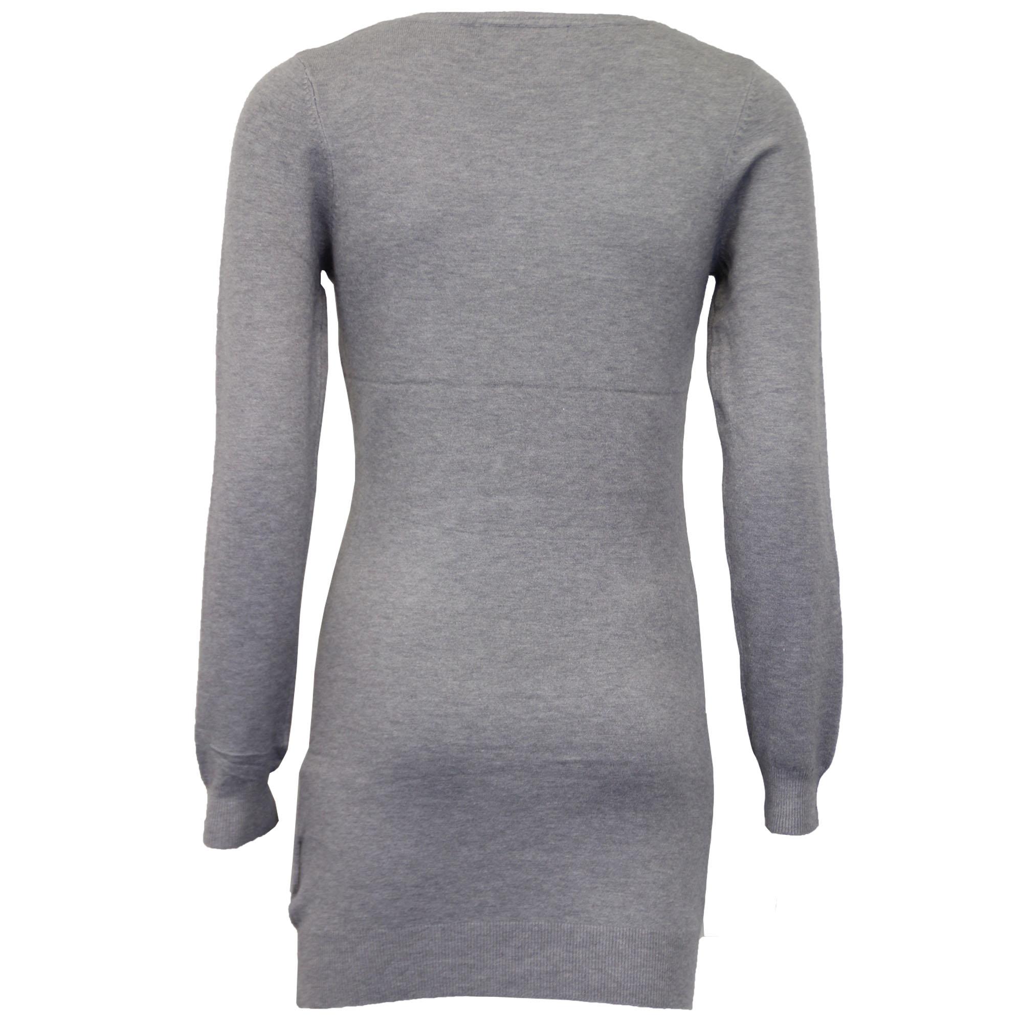Damen-Xmas-Lang-Pullover-Damen-Kleid-Weihnachten-Glitzernde-Pailletten-Neuheit-Party-NEU Indexbild 8