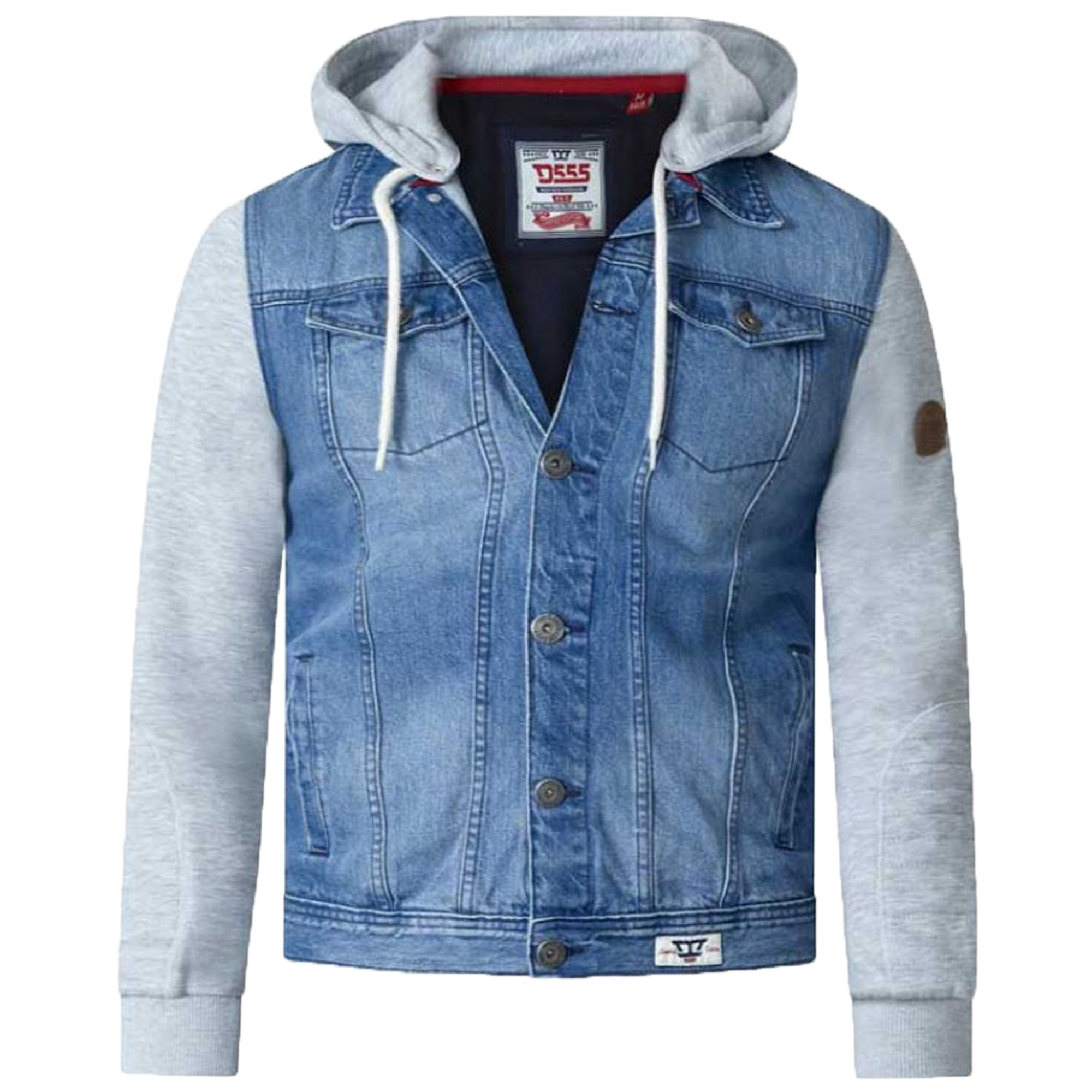 d19aa253d5 Mens Denim Jacket D555 Duke Big King Size Western Style Coat Vintage ...