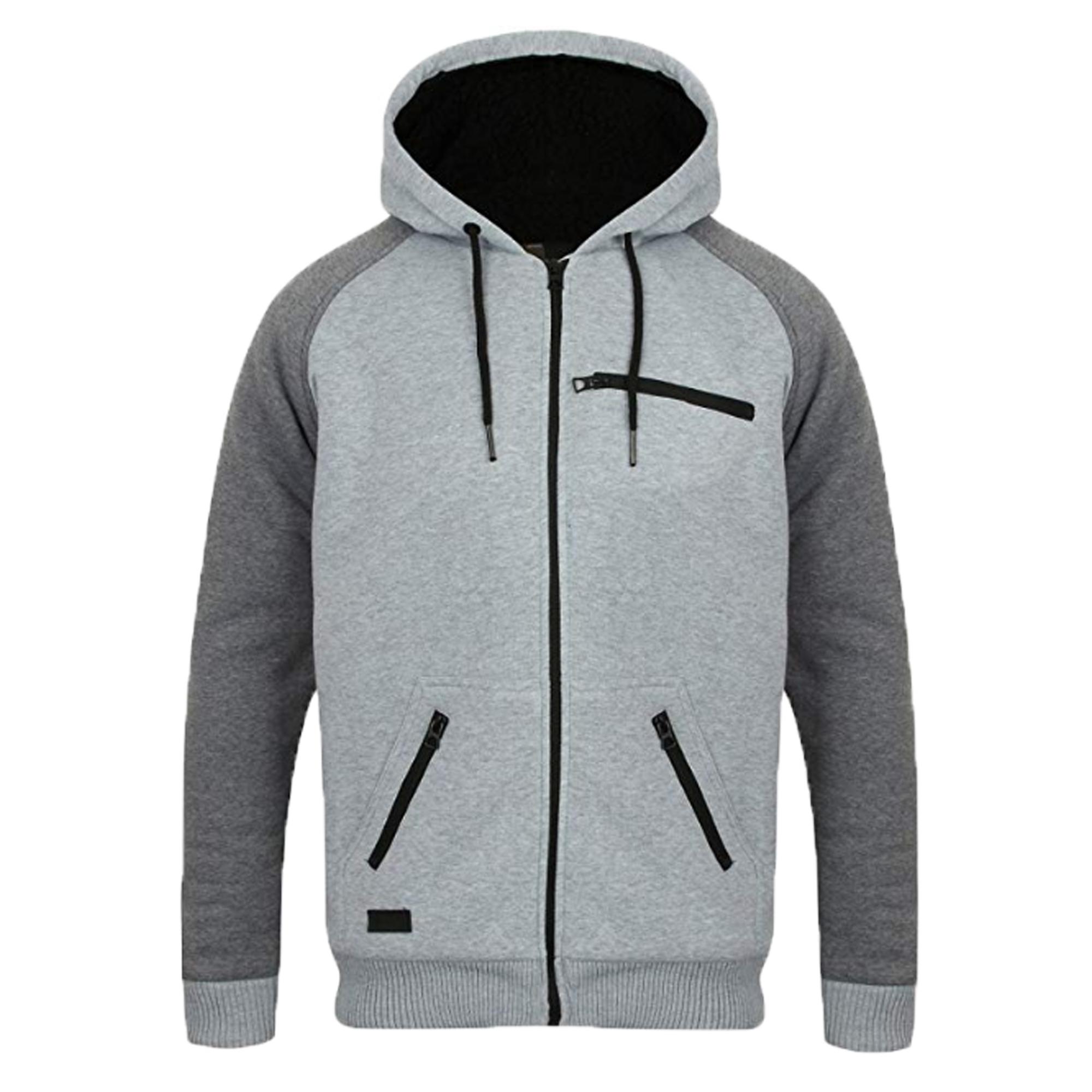 Mens-Jacket-Dissident-Sweatshirt-Hooded-Top-Sherpa-Fleece-Lined-Heavy-BOLO-New thumbnail 18