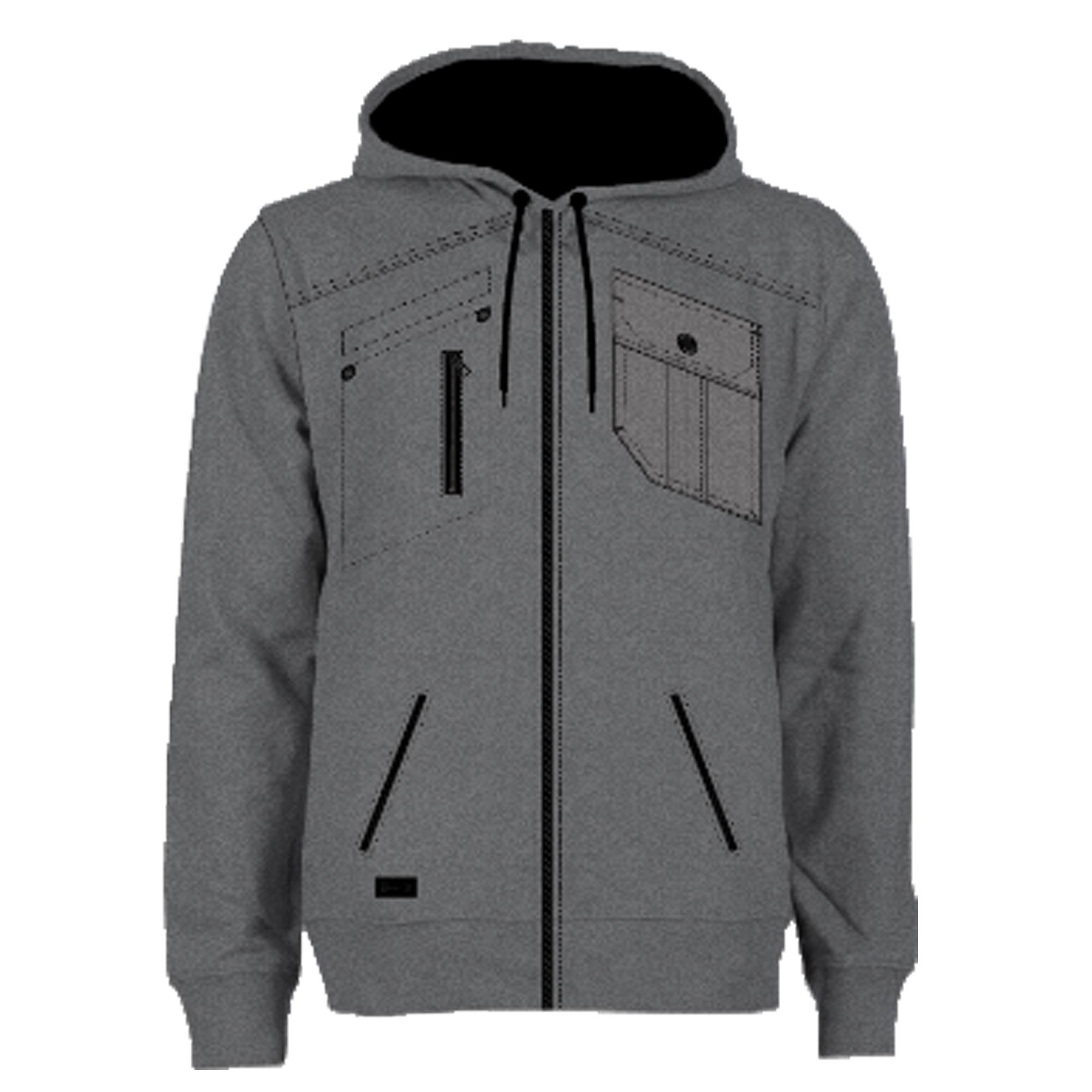 Mens-Jacket-Dissident-Sweatshirt-Hooded-Top-Sherpa-Fleece-Lined-Heavy-BOLO-New thumbnail 16