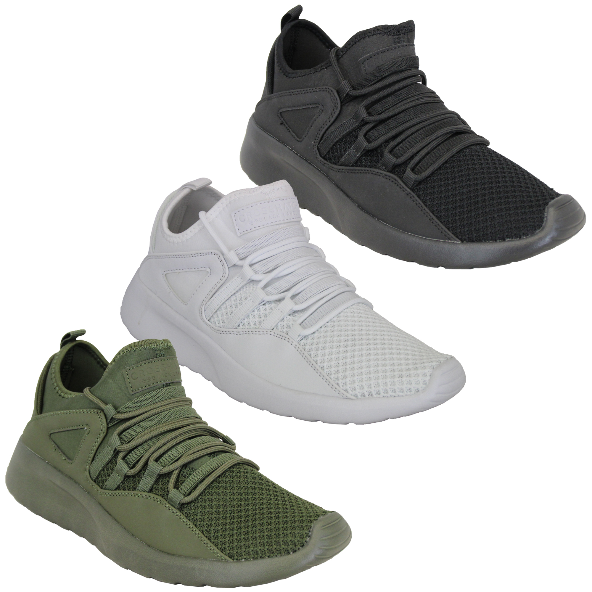 Mens-Trainers-Crosshatch-Running-Speed-Lace-Up-Sneakers-Sports-Gym-Casual-Shoes thumbnail 5