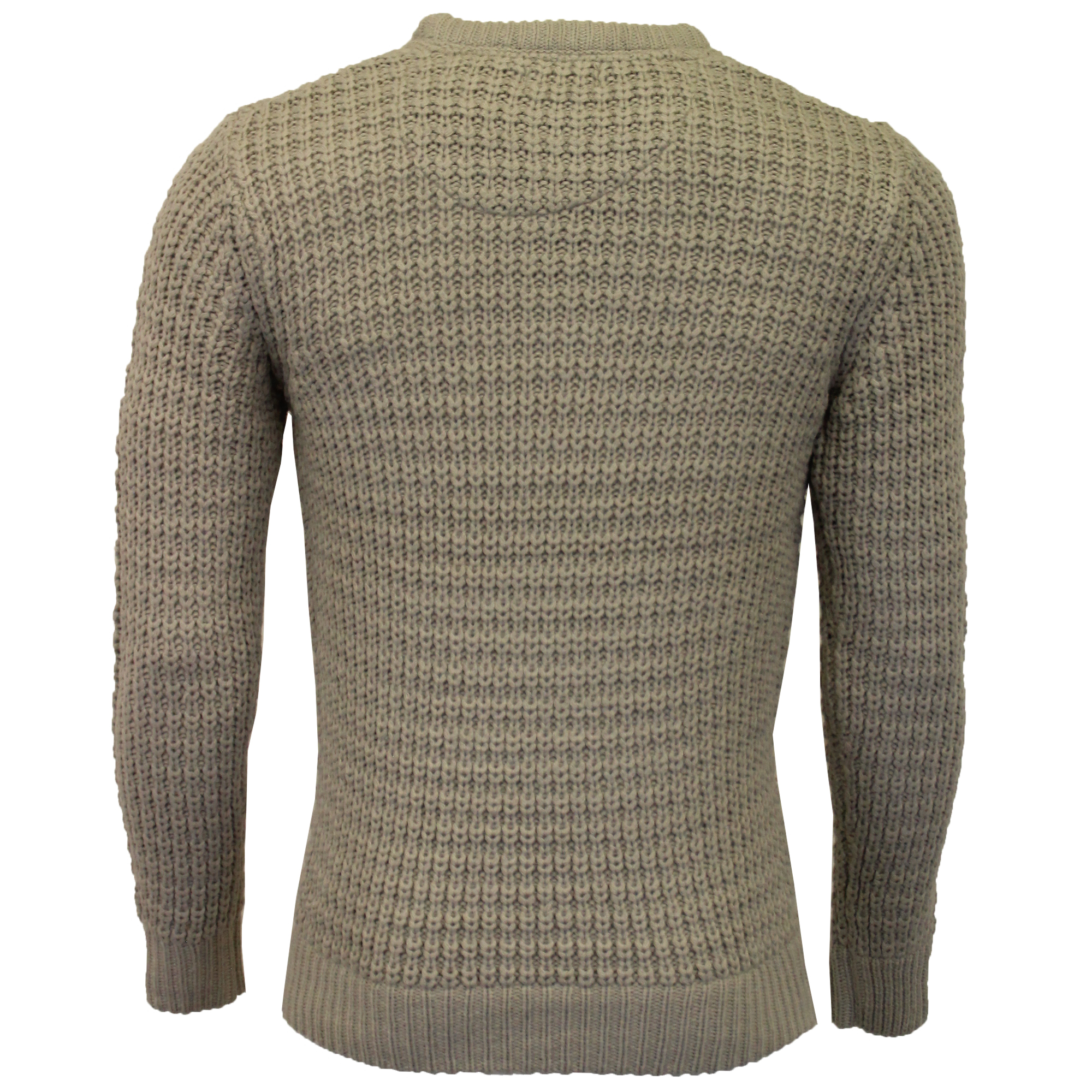 Mens-Cable-Knitted-Jumper-Brave-Soul-DIRAC-Crew-Neck-Pullover-Top-Winter-Fashion thumbnail 3