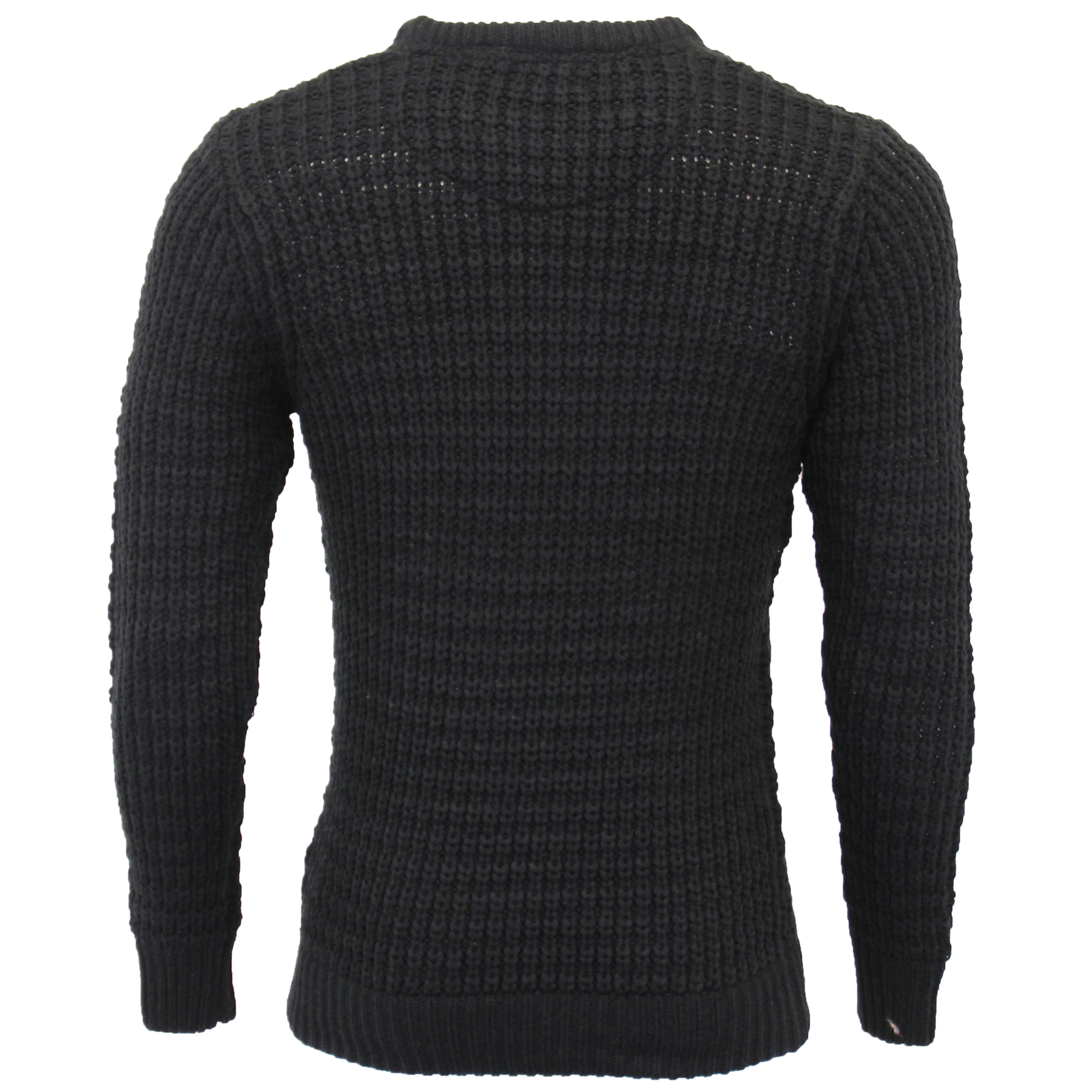 Mens-Cable-Knitted-Jumper-Brave-Soul-DIRAC-Crew-Neck-Pullover-Top-Winter-Fashion thumbnail 6