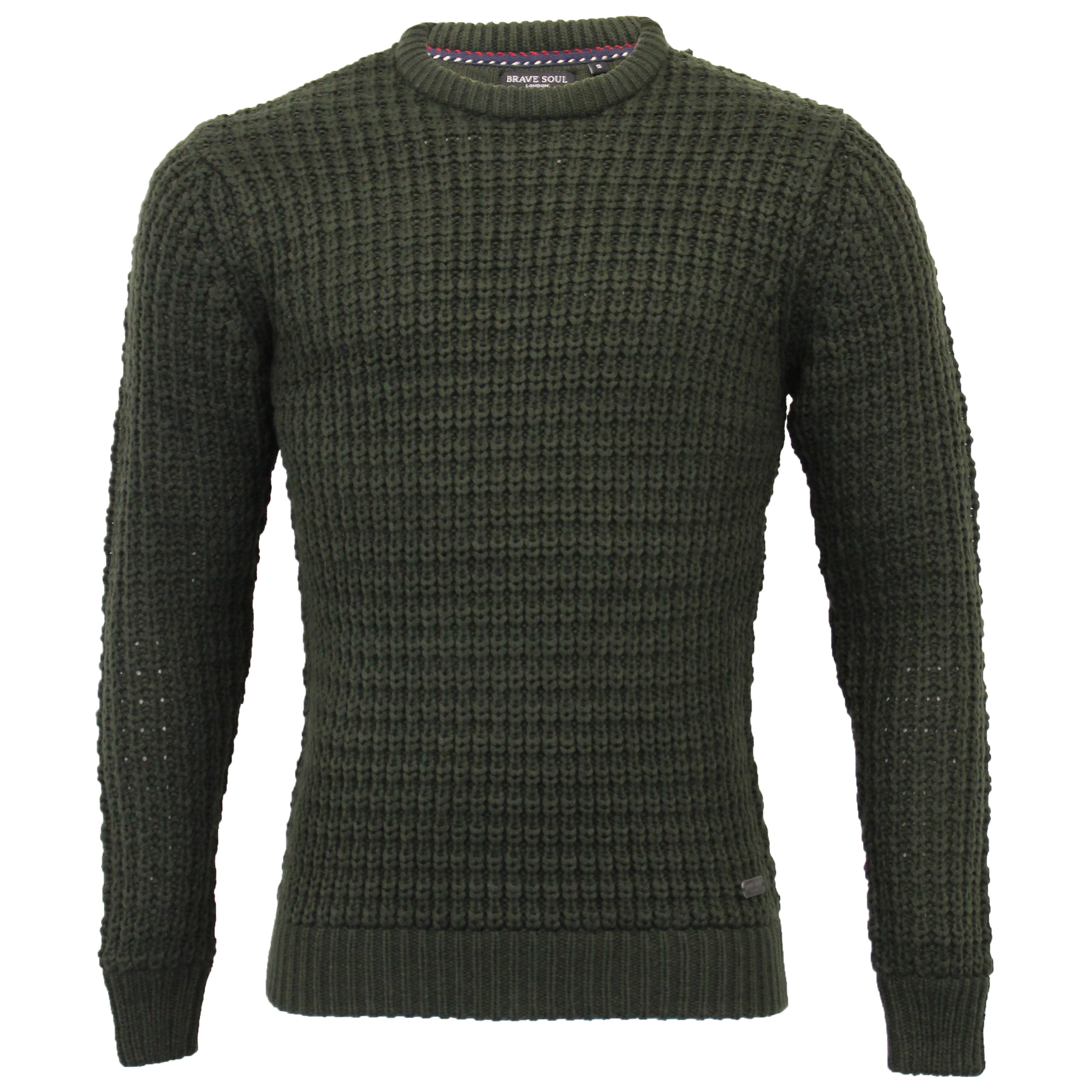Mens-Cable-Knitted-Jumper-Brave-Soul-DIRAC-Crew-Neck-Pullover-Top-Winter-Fashion thumbnail 8