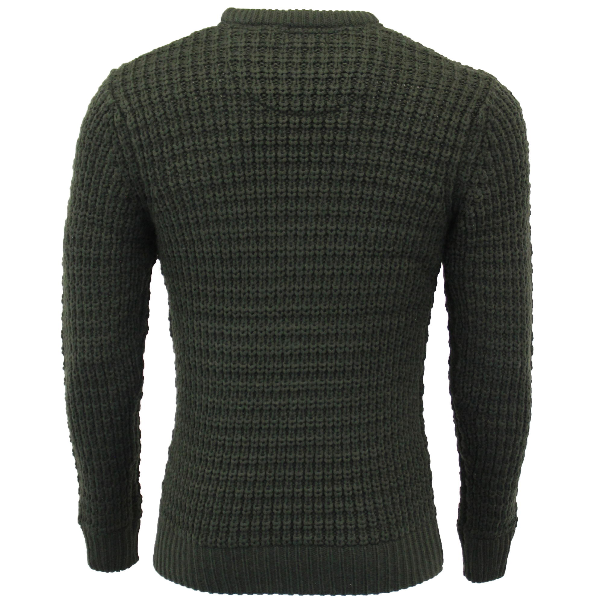 Mens-Cable-Knitted-Jumper-Brave-Soul-DIRAC-Crew-Neck-Pullover-Top-Winter-Fashion thumbnail 9