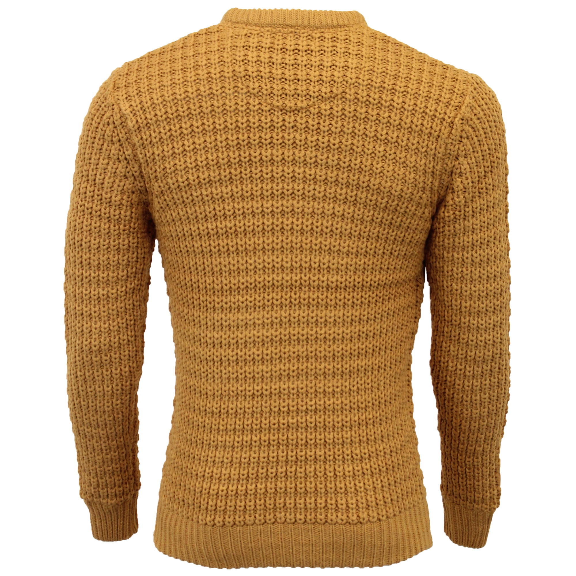Mens-Cable-Knitted-Jumper-Brave-Soul-DIRAC-Crew-Neck-Pullover-Top-Winter-Fashion thumbnail 15