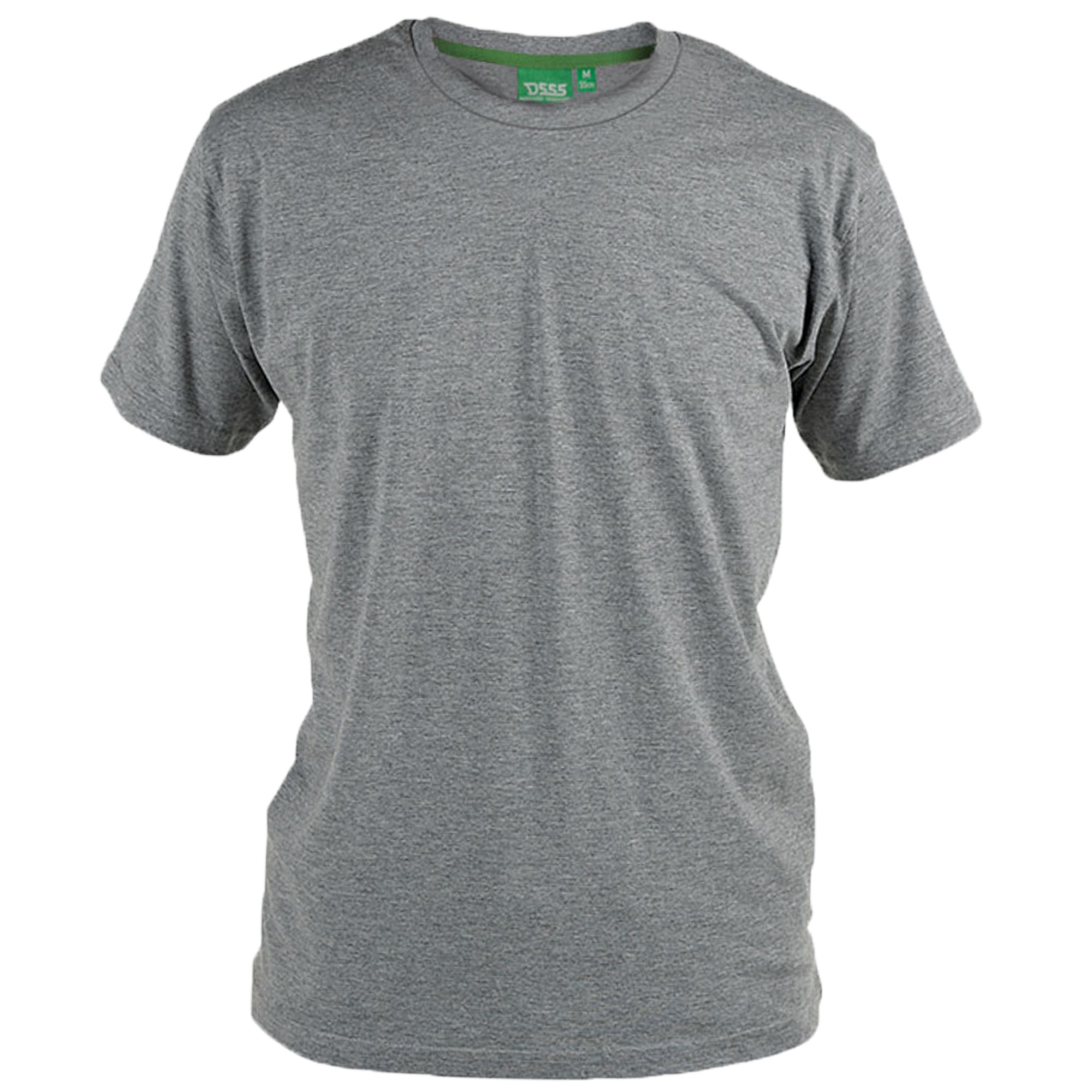 175f2588470683 Mens Short Sleeved Plain Big King Size T Shirts by D555 Duke Grey - Flyer2x  Large. About this product. Picture 1 of 3; Picture 2 of 3 ...
