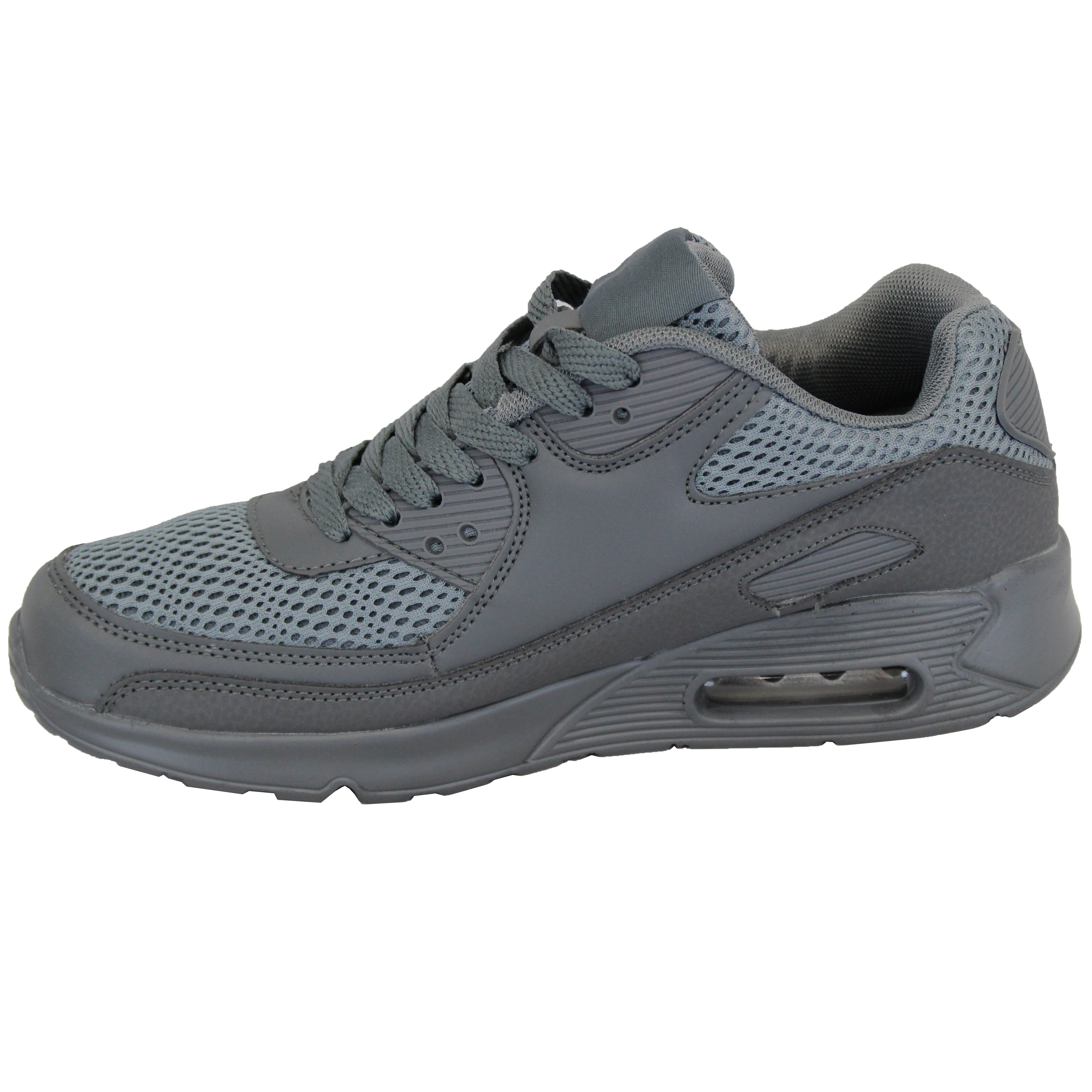 Mens-Bubble-Trainers-Lace-Up-Running-Shoes-Mesh-Jogging-Sports-Gym-Casual-New thumbnail 11