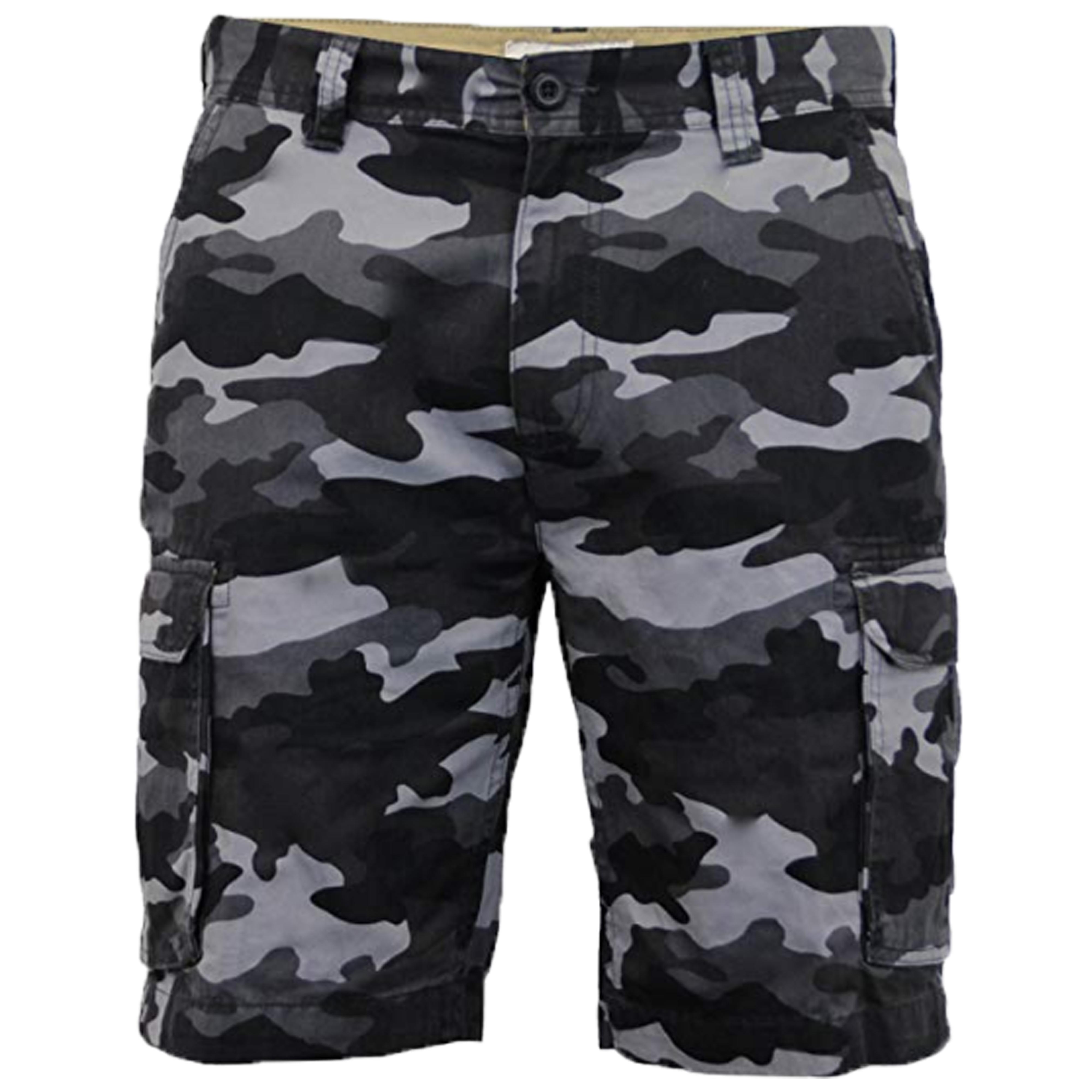 Para-Hombre-Pantalones-Cortos-Estilo-Cargo-De-Camuflaje-Combate-Largo-Hasta-La-Rodilla-Ejercito miniatura 4