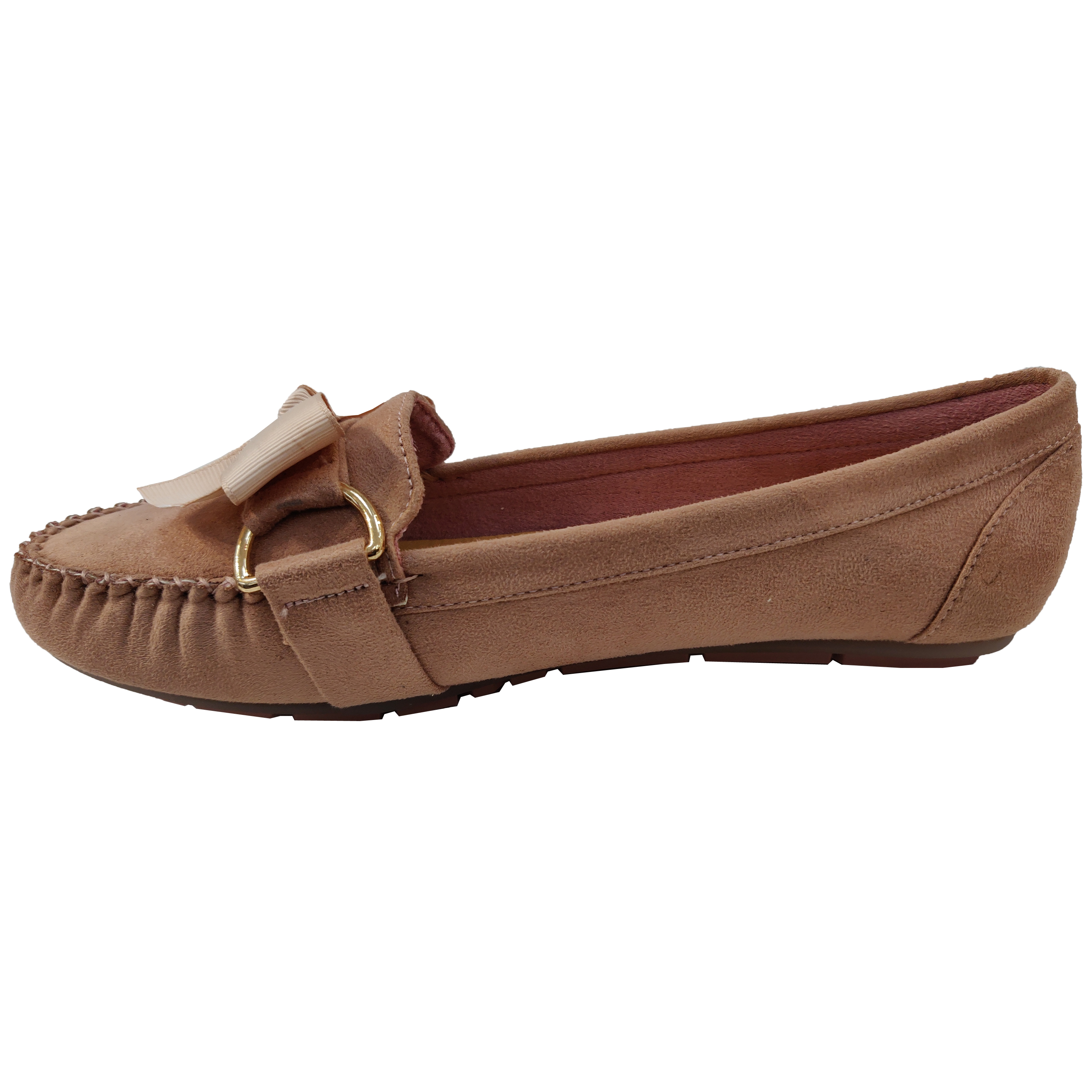 Ladies-Slip-On-Ballerina-Womens-Suede-Look-Pumps-Flat-Bow-Tassels-Shoes-Fashion thumbnail 15