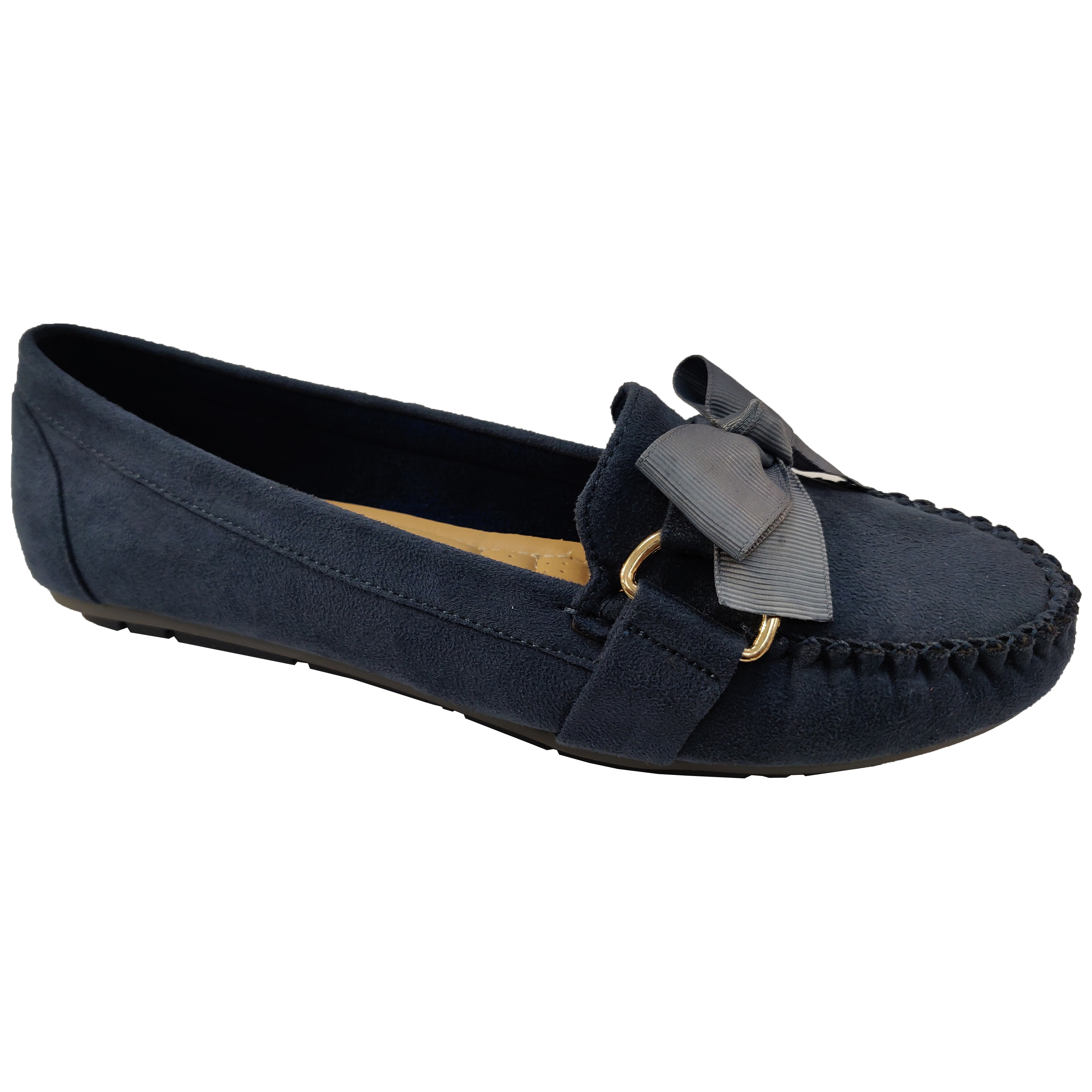 Ladies-Slip-On-Ballerina-Womens-Suede-Look-Pumps-Flat-Bow-Tassels-Shoes-Fashion thumbnail 11