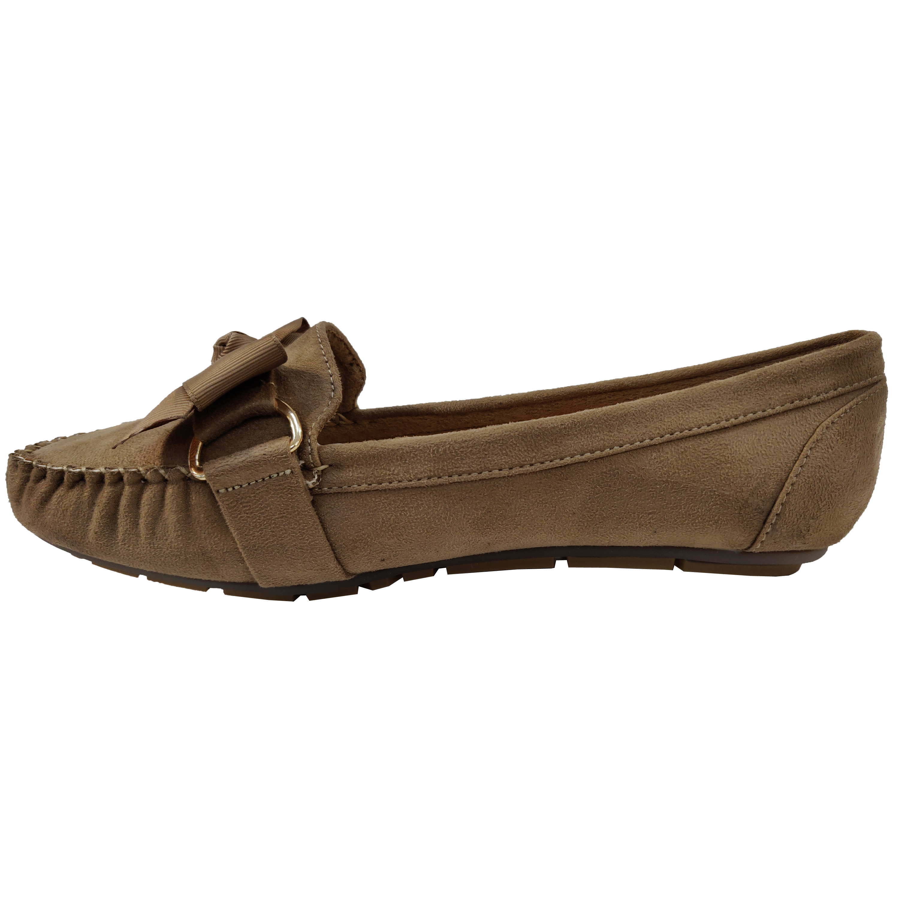Ladies-Slip-On-Ballerina-Womens-Suede-Look-Pumps-Flat-Bow-Tassels-Shoes-Fashion thumbnail 9