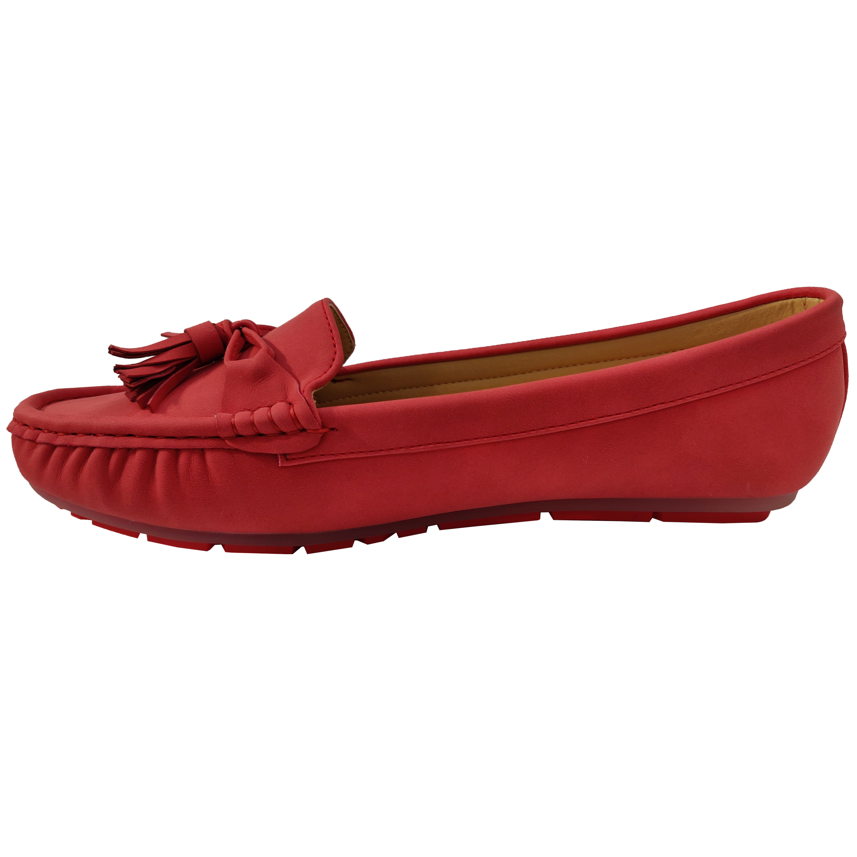 Ladies-Slip-On-Ballerina-Womens-Suede-Look-Pumps-Flat-Bow-Tassels-Shoes-Fashion thumbnail 21