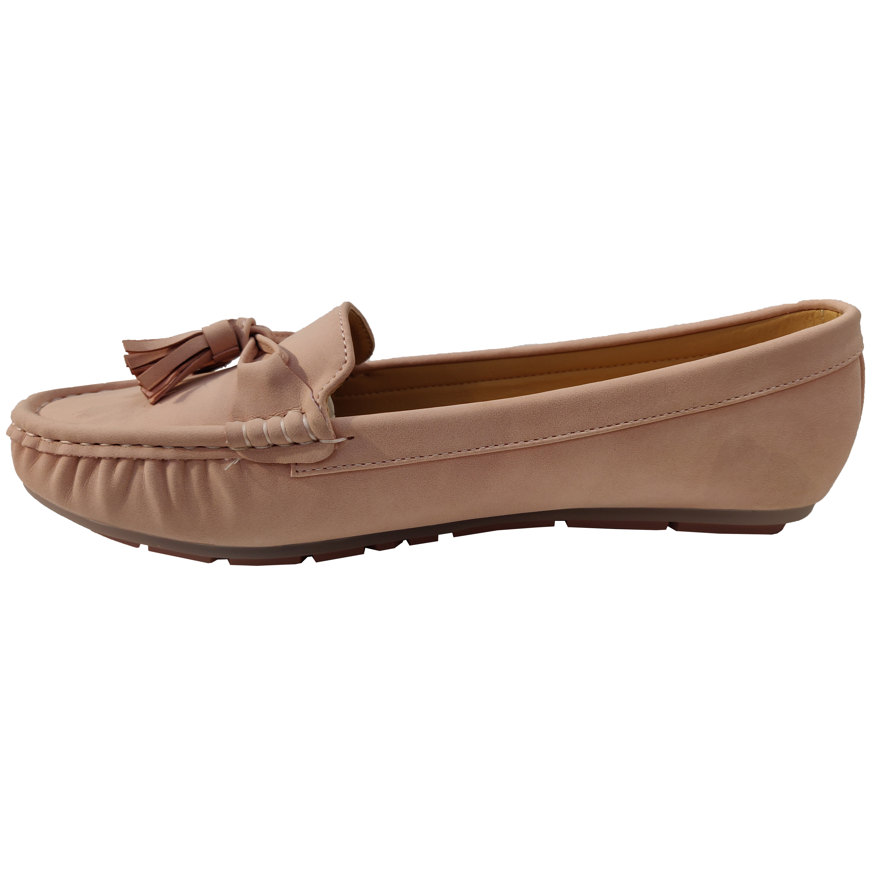 Ladies-Slip-On-Ballerina-Womens-Suede-Look-Pumps-Flat-Bow-Tassels-Shoes-Fashion thumbnail 18