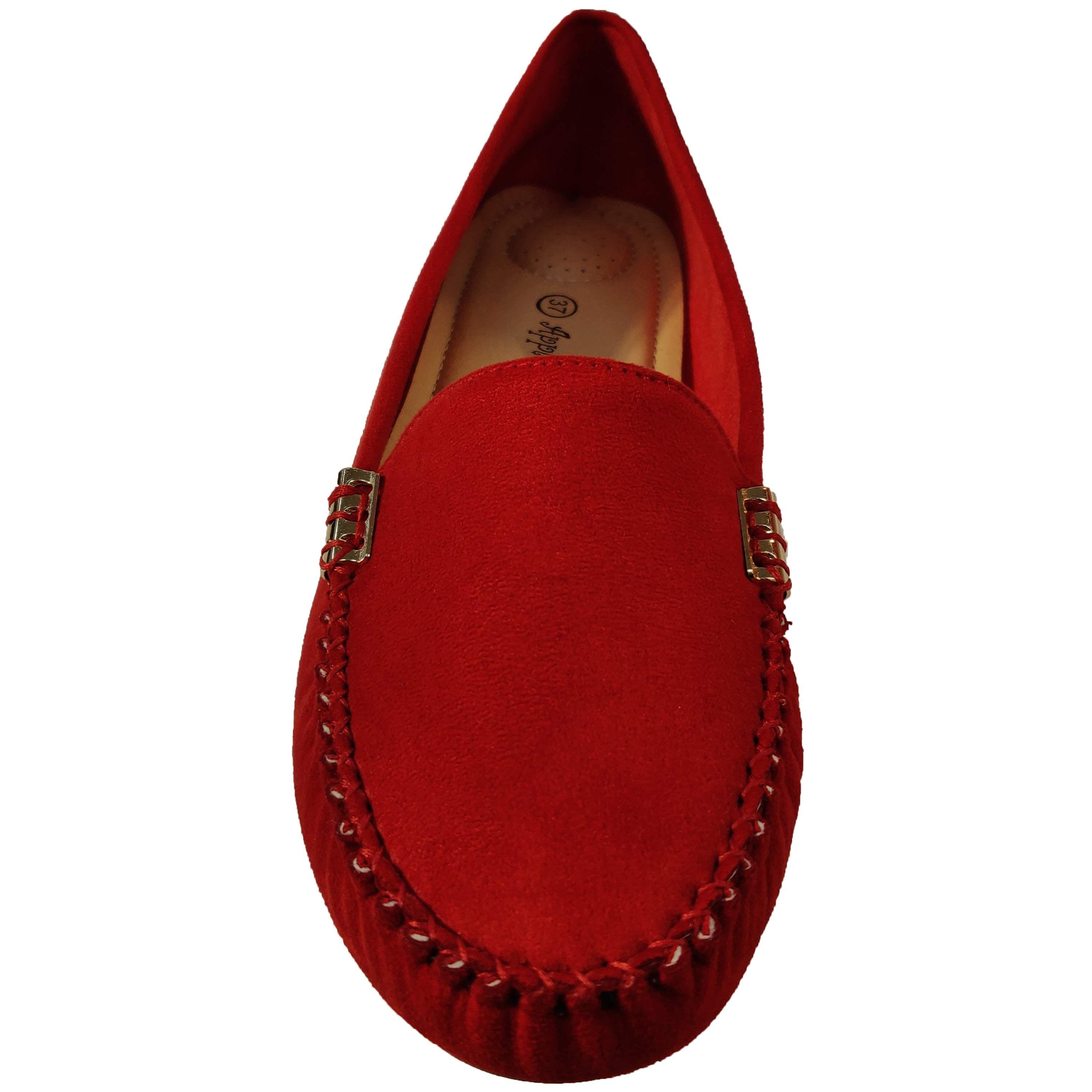 Ladies-Moccasins-Slip-On-Shoes-Ballerina-Womens-Suede-Look-Loafers-Flat-Work-New thumbnail 10