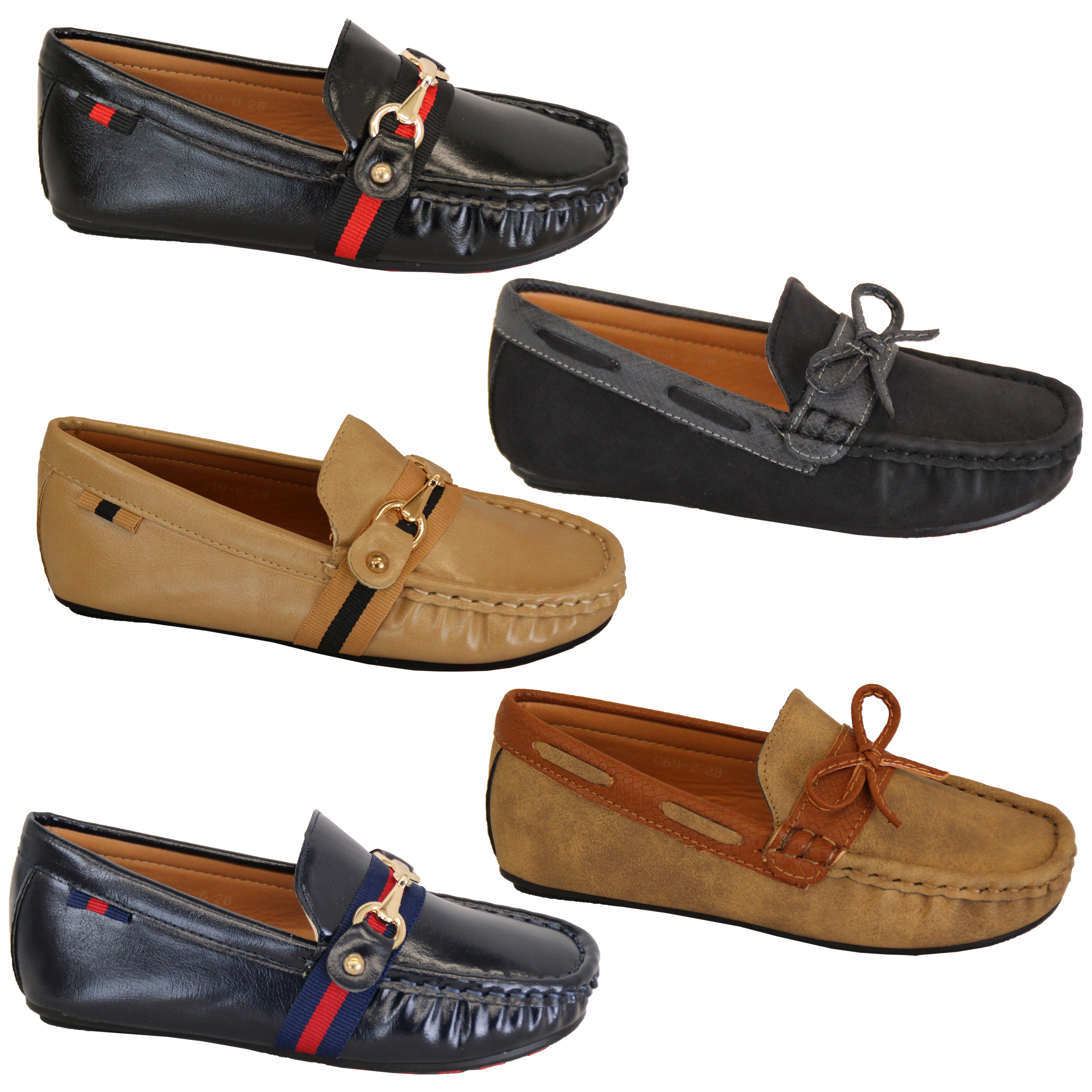 Boys Moccasins Kids Boat Deck Shoes Driving Slip On Loafers Ribbon Bow  Fashion   eBay