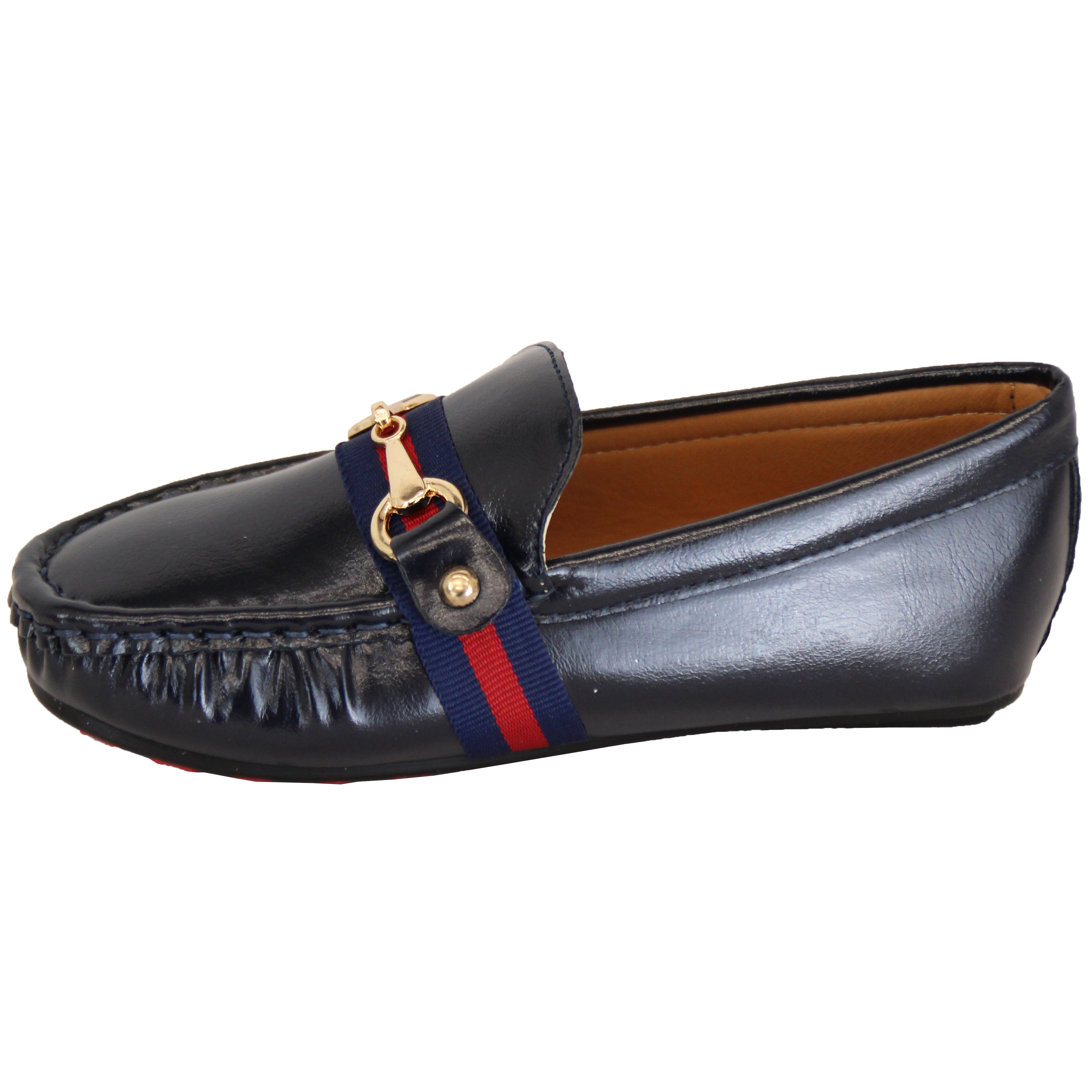 Boys Moccasins Kids Boat Deck Shoes Driving Slip On Loafers Ribbon Bow Fashion