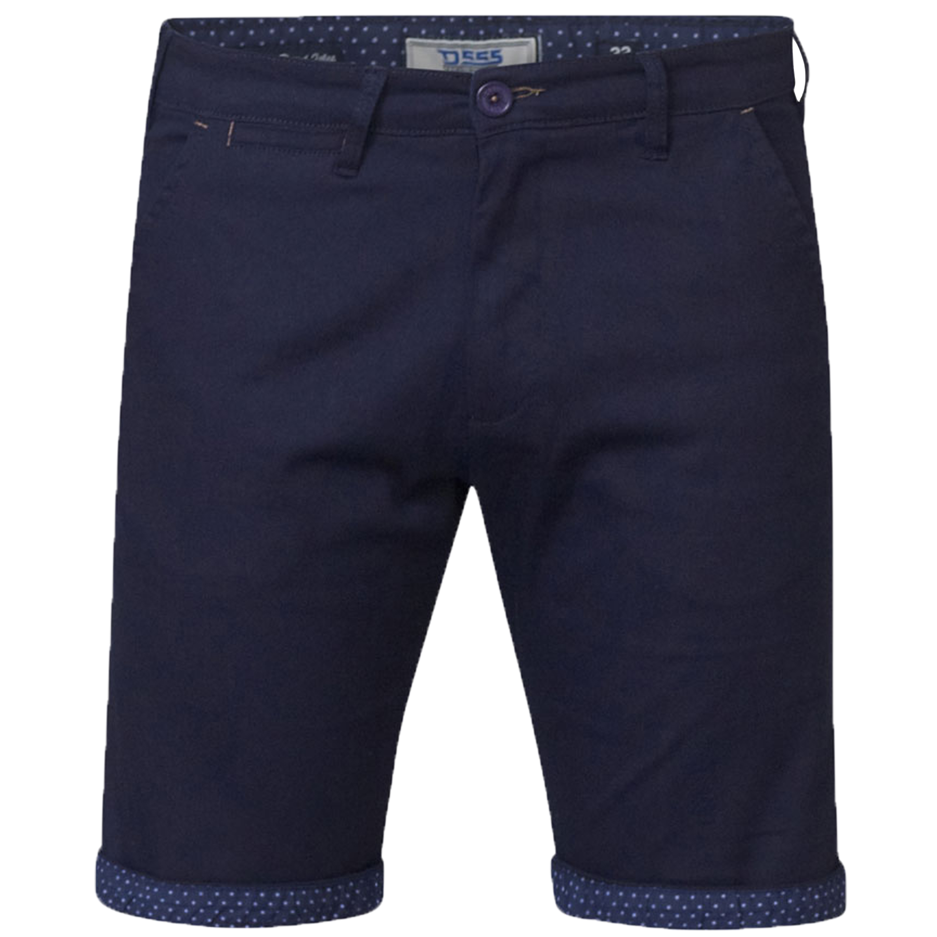 Mens-Chino-Shorts-D555-Duke-Big-King-Size-Roll-Up-Knee-Length-Polka-Pattern-New thumbnail 2