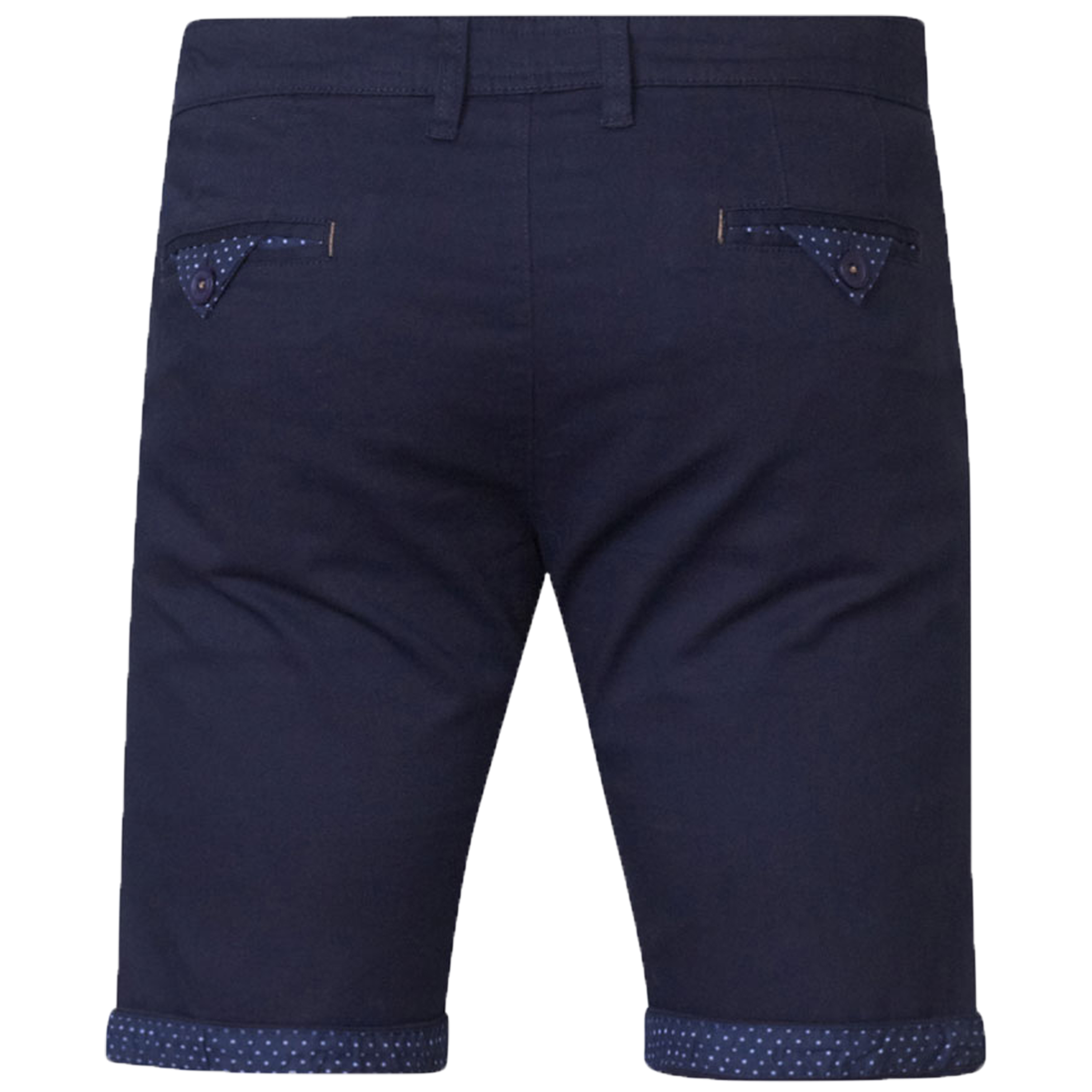Mens-Chino-Shorts-D555-Duke-Big-King-Size-Roll-Up-Knee-Length-Polka-Pattern-New thumbnail 3