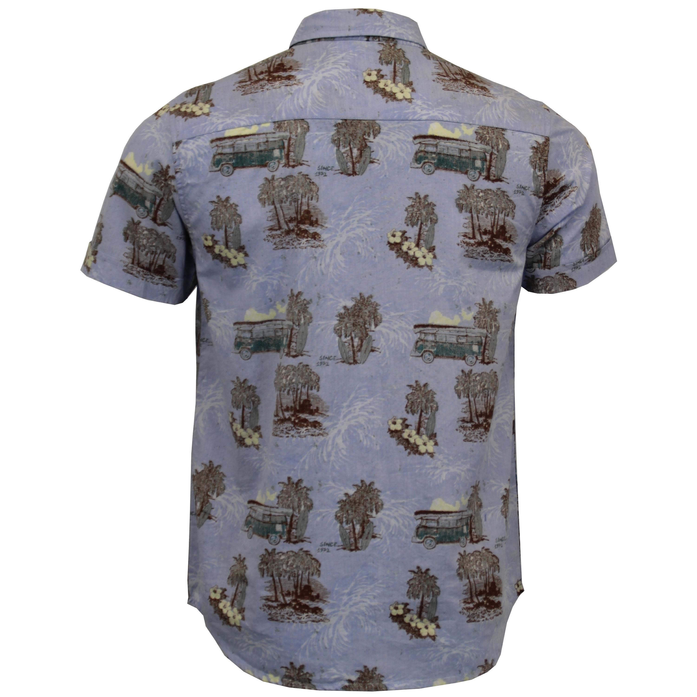 Mens-Hawaii-Cotton-Shirt-Brave-Soul-Pineapple-Palm-Tree-Printed-Short-Sleeved thumbnail 12