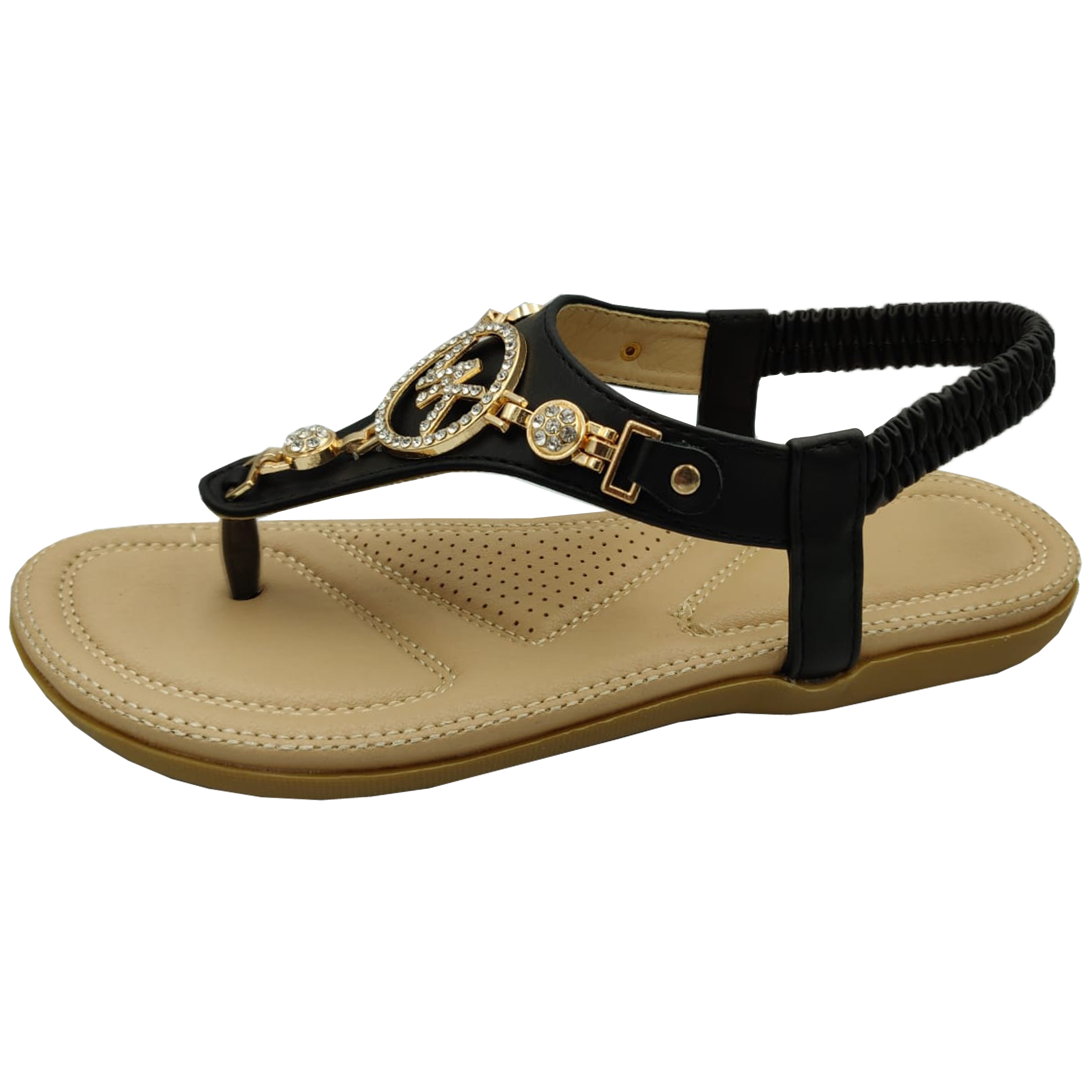 Ladies-Flat-Sandals-Womens-Diamante-Sling-Back-Toe-Post-Shoes-Summer-Fashion-New thumbnail 4