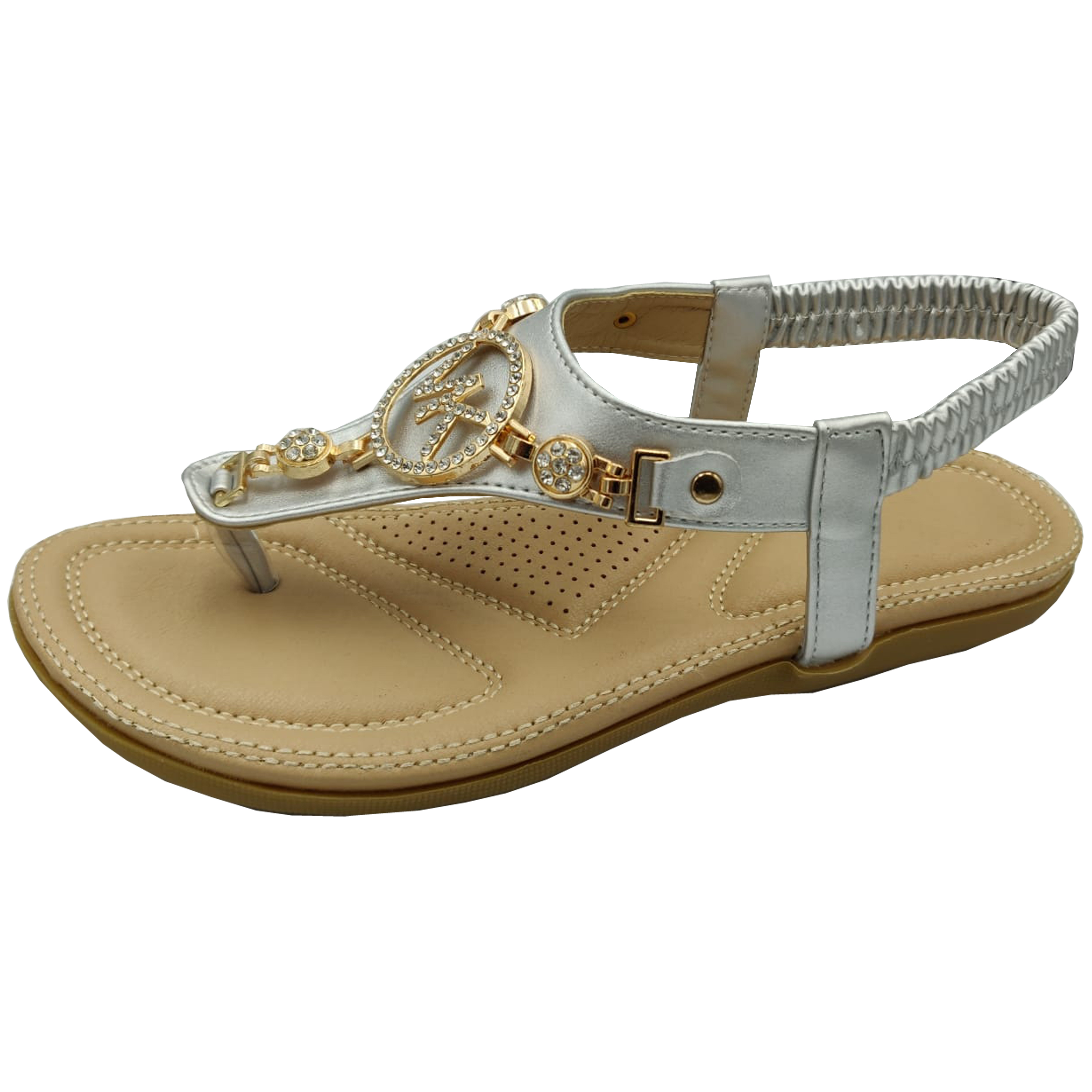 Ladies-Flat-Sandals-Womens-Diamante-Sling-Back-Toe-Post-Shoes-Summer-Fashion-New thumbnail 8