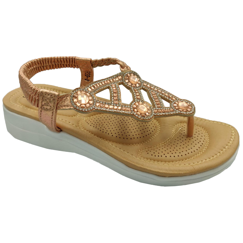 Ladies-Sandals-Apple-Womens-Diamante-Slip-On-Toe-Post-Shoes-Casual-Fashion-New thumbnail 6