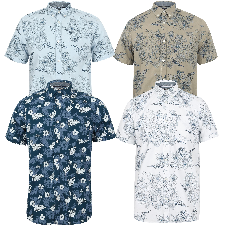 Mens-Hawaii-Shirt-Tokyo-Laundry-Floral-Print-Short-Sleeved-FERMONT-Beach-MALAYAN thumbnail 5