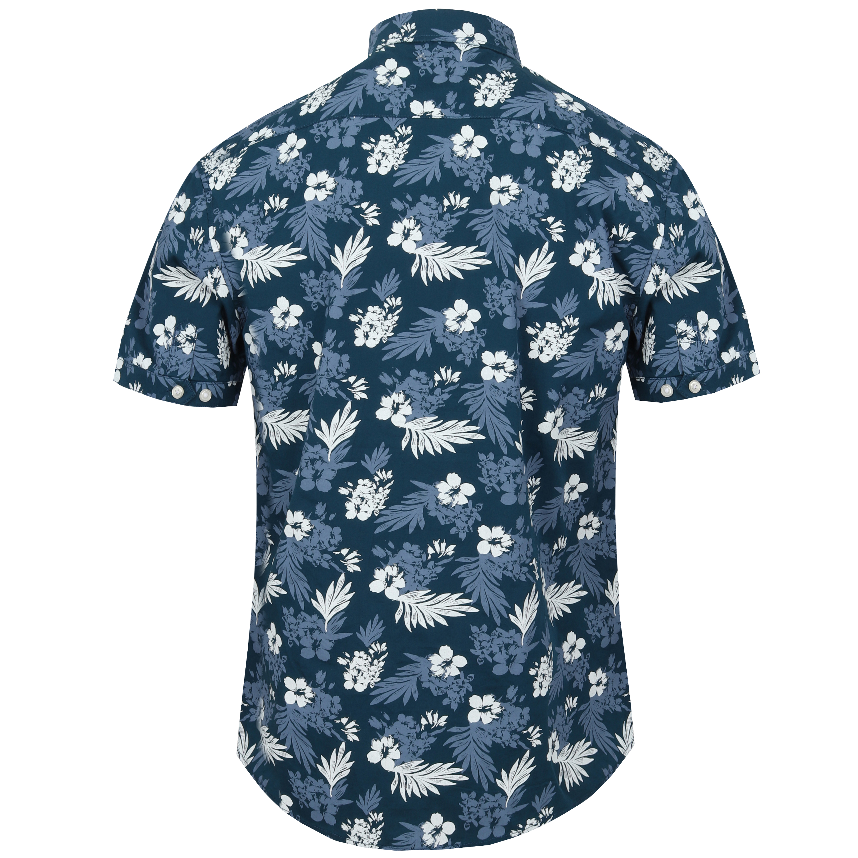 Mens-Hawaii-Shirt-Tokyo-Laundry-Floral-Print-Short-Sleeved-FERMONT-Beach-MALAYAN thumbnail 7