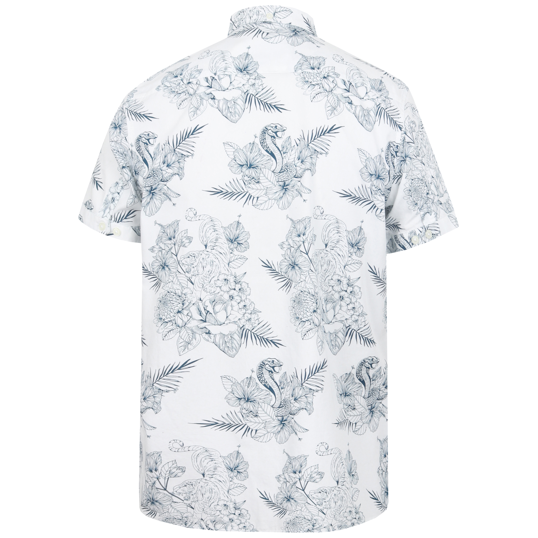 Mens-Hawaii-Shirt-Tokyo-Laundry-Floral-Print-Short-Sleeved-FERMONT-Beach-MALAYAN thumbnail 13
