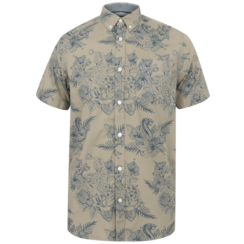 Mens-Hawaii-Shirt-Tokyo-Laundry-Floral-Print-Short-Sleeved-FERMONT-Beach-MALAYAN thumbnail 2