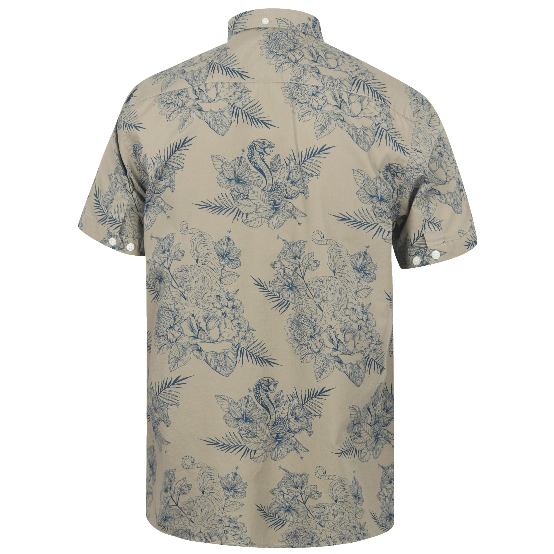 Mens-Hawaii-Shirt-Tokyo-Laundry-Floral-Print-Short-Sleeved-FERMONT-Beach-MALAYAN thumbnail 4