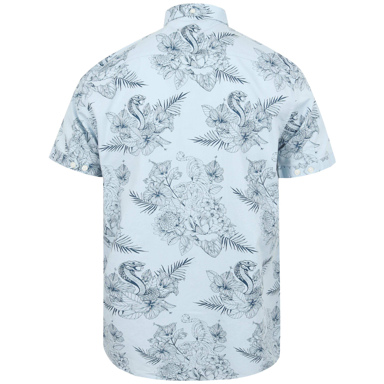 Mens-Hawaii-Shirt-Tokyo-Laundry-Floral-Print-Short-Sleeved-FERMONT-Beach-MALAYAN thumbnail 10