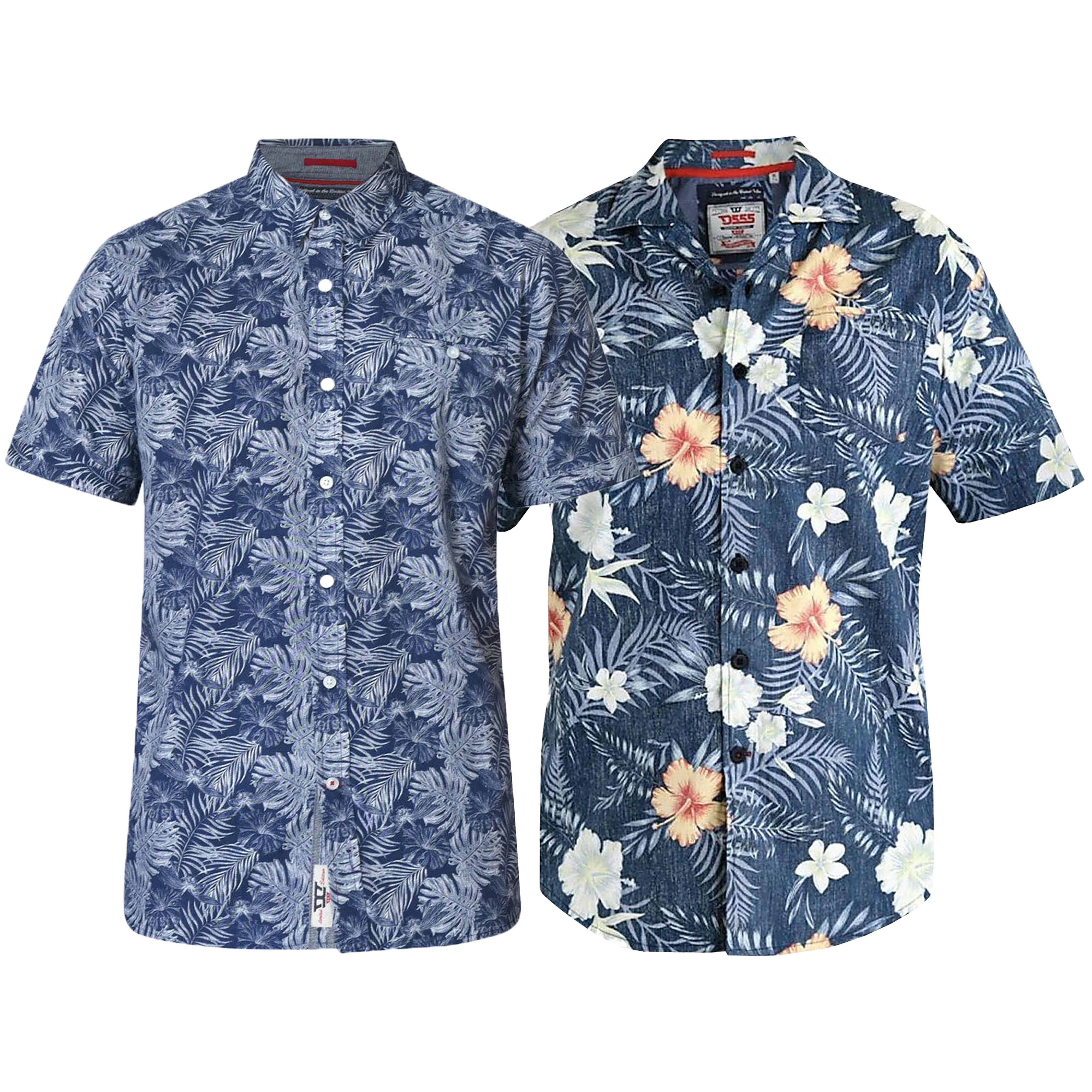 Mens-Hawaii-Shirt-D555-Duke-Cotton-Floral-Big-King-Size-Short-Sleeved-Summer-New thumbnail 3