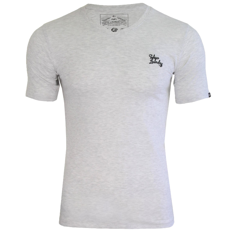 Mens-Tokyo-Laundry-3-Pack-Plain-Combed-Cotton-T-Shirt-Top-Plain-Mix-Colours-New thumbnail 11