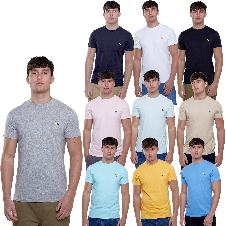 Mens-T-Shirt-Brave-Soul-Short-Sleeved-Broken-Standard-Crew-Neck-Plain-Summer-New thumbnail 4