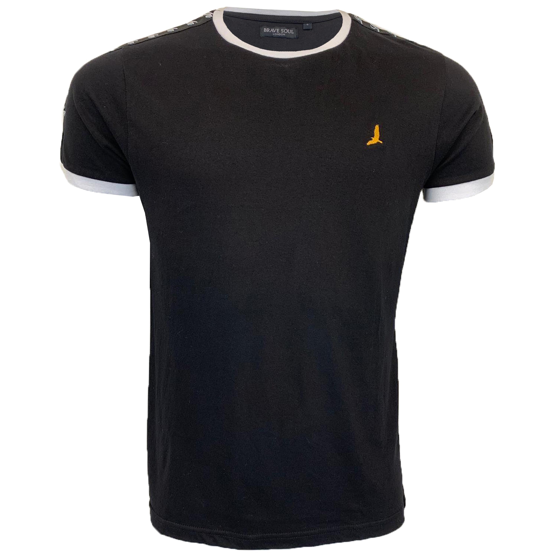 Mens-T-Shirt-Brave-Soul-Short-Sleeved-Broken-Standard-Crew-Neck-Plain-Summer-New thumbnail 2