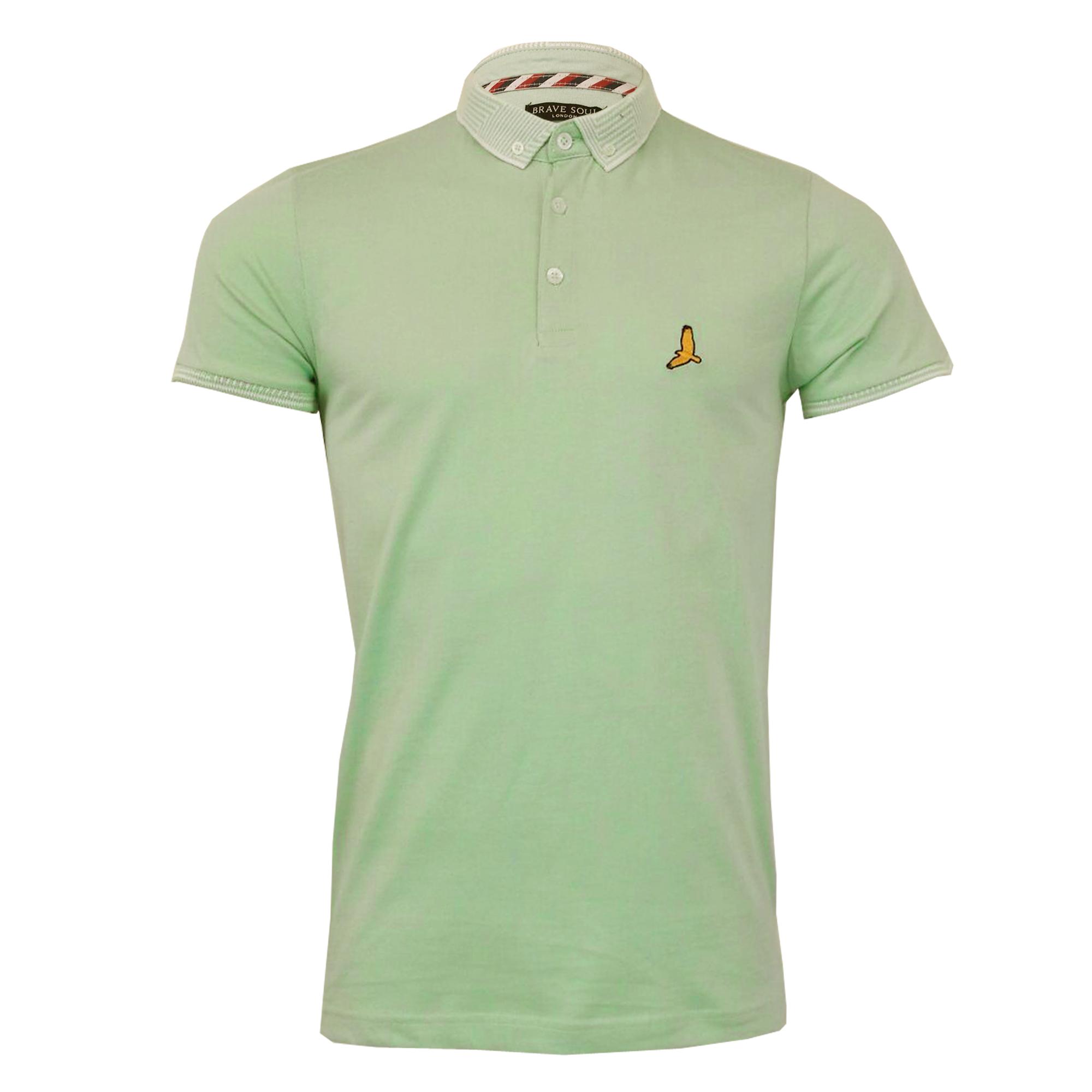 Mens-Polo-T-Shirt-Brave-Soul-Short-Sleeved-Cotton-GLOVER-Collared-KHALIFA-Summer thumbnail 8