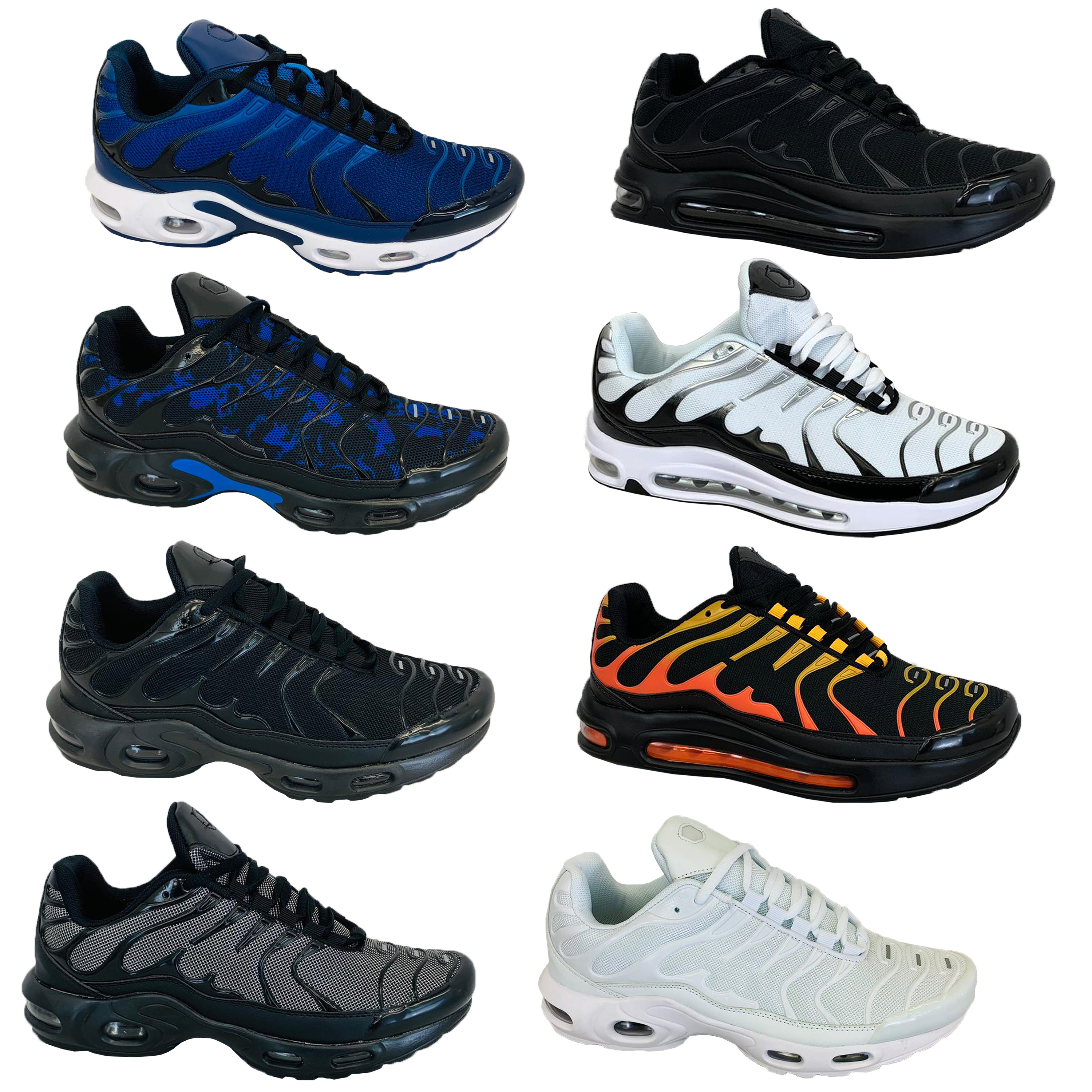 Mens-Bubble-Trainers-Lace-Up-Running-Shoes-Sneakers-Sports-Jogging-Fitness-Gym thumbnail 5