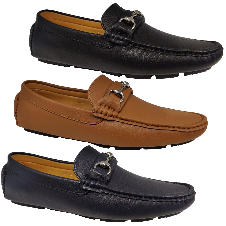 nuevo estilo moda de lujo 100% autentico Detalles de Hombre Mocasines Piel Sintética Zapatos Conducción sin Cordones  Barco Boda
