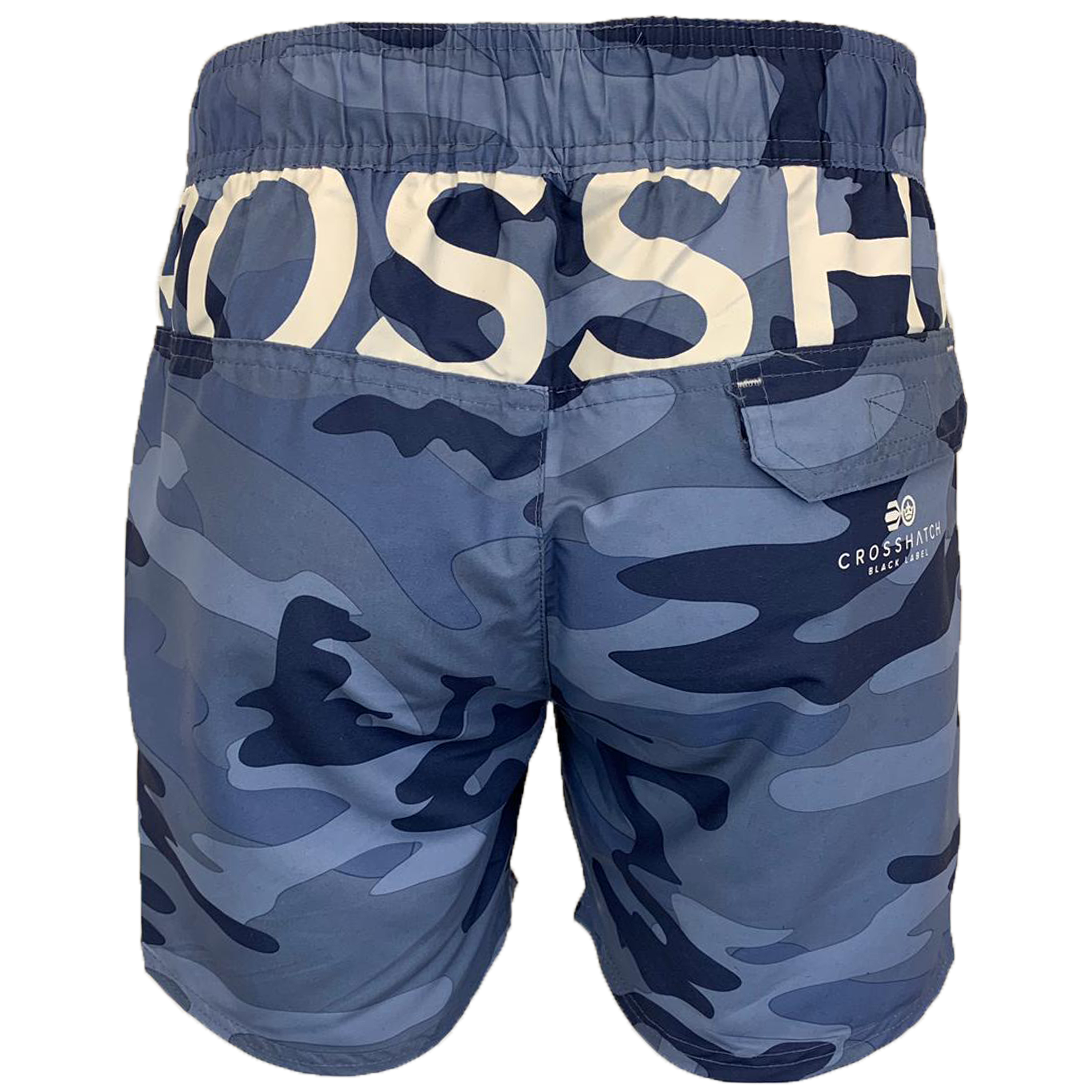 Mens-Camouflage-Swim-Shorts-Crosshatch-Army-Military-Knee-Length-Casual-Summer thumbnail 3
