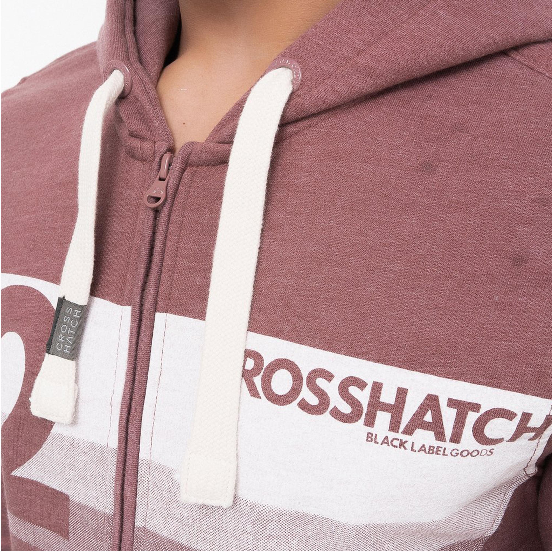 Mens-Sweatshirt-Crosshatch-Over-The-Head-Hoodie-Printed-Zip-Top-Fleece-Lined-New thumbnail 19