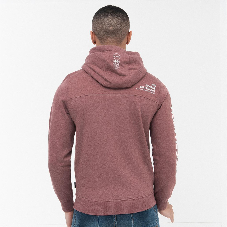 Mens-Sweatshirt-Crosshatch-Over-The-Head-Hoodie-Printed-Zip-Top-Fleece-Lined-New thumbnail 20