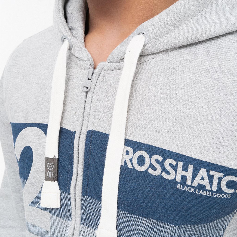 Mens-Sweatshirt-Crosshatch-Over-The-Head-Hoodie-Printed-Zip-Top-Fleece-Lined-New thumbnail 7