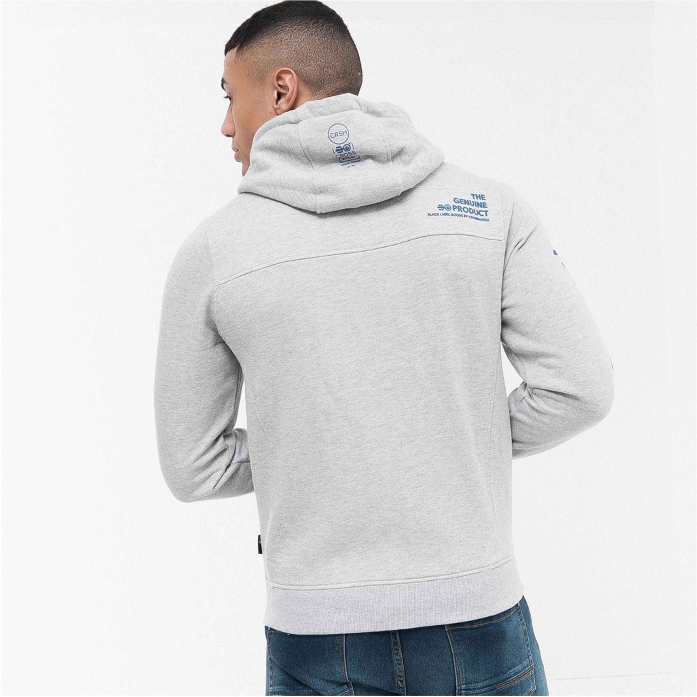 Mens-Sweatshirt-Crosshatch-Over-The-Head-Hoodie-Printed-Zip-Top-Fleece-Lined-New thumbnail 8