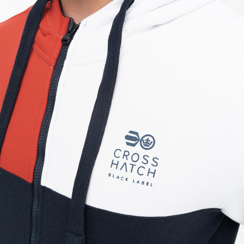Mens-Sweatshirt-Crosshatch-Over-The-Head-Hoodie-Printed-Zip-Top-Fleece-Lined-New thumbnail 15