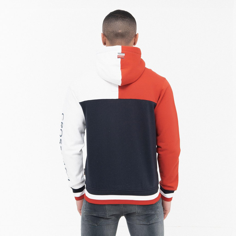 Mens-Sweatshirt-Crosshatch-Over-The-Head-Hoodie-Printed-Zip-Top-Fleece-Lined-New thumbnail 16